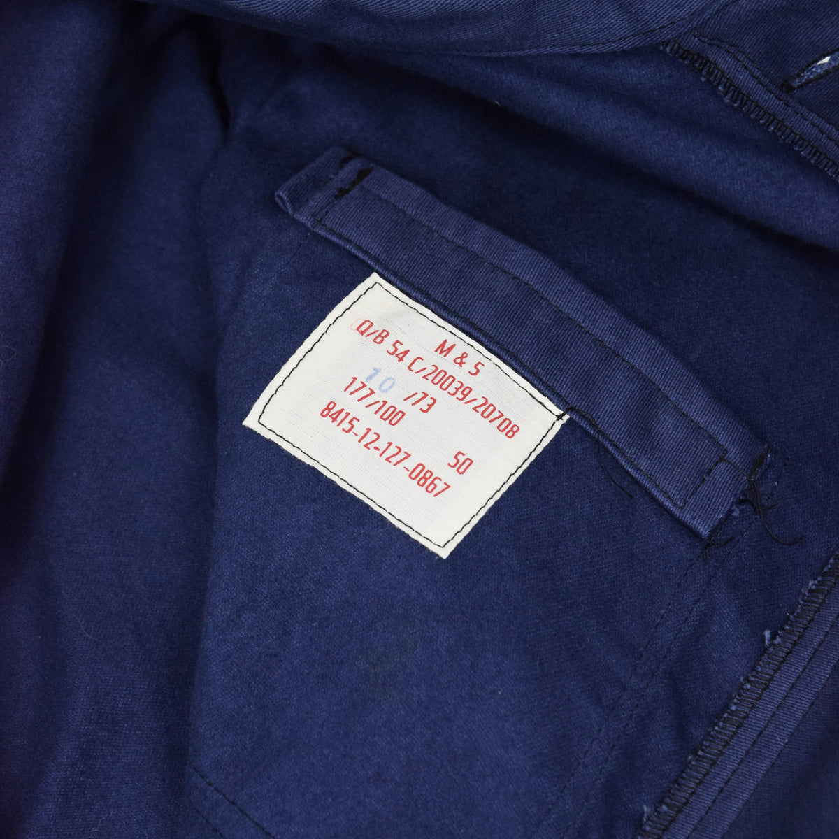 Vintage Workwear Coverall Blue Moleskin French Style Overalls Boiler Suit M / L label