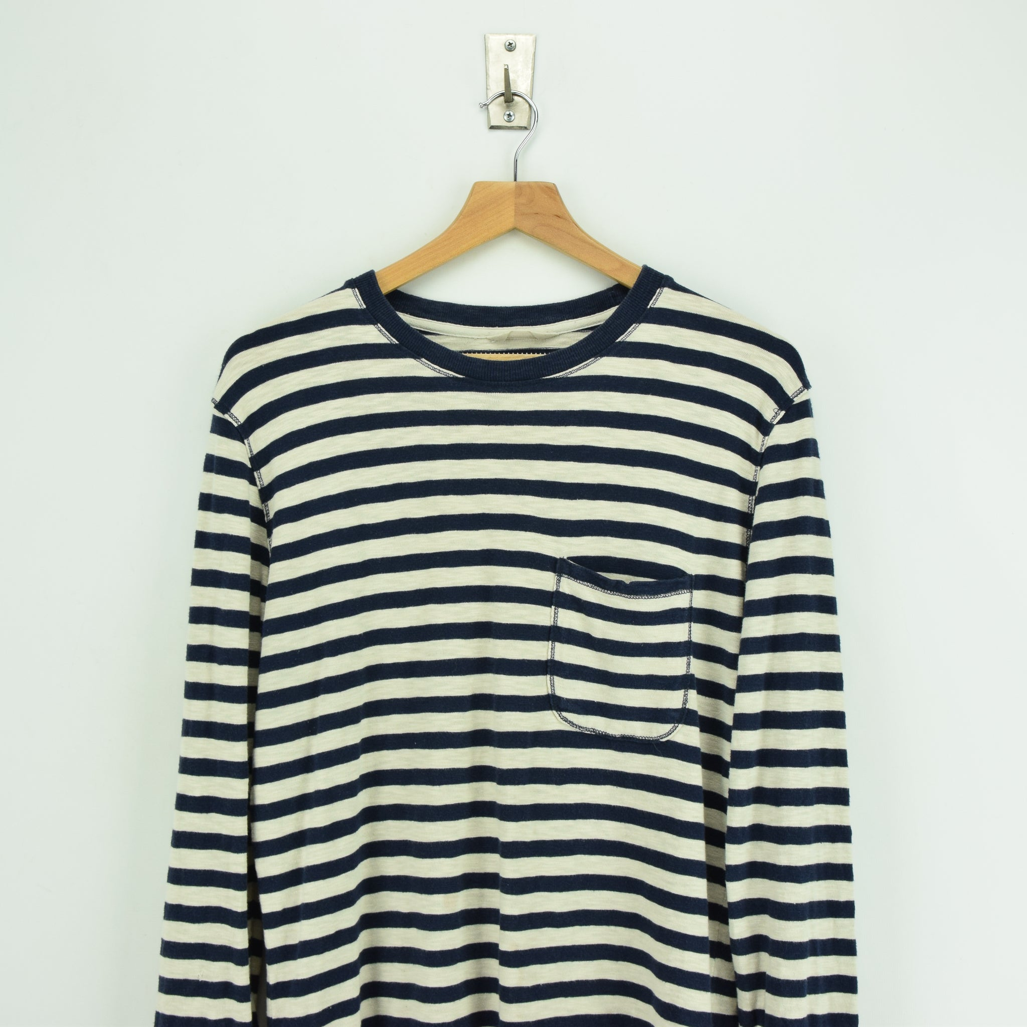 Vintage NN 07 Breton Striped Sailor's Long Sleeved Cotton T-shirt Top S / M chest
