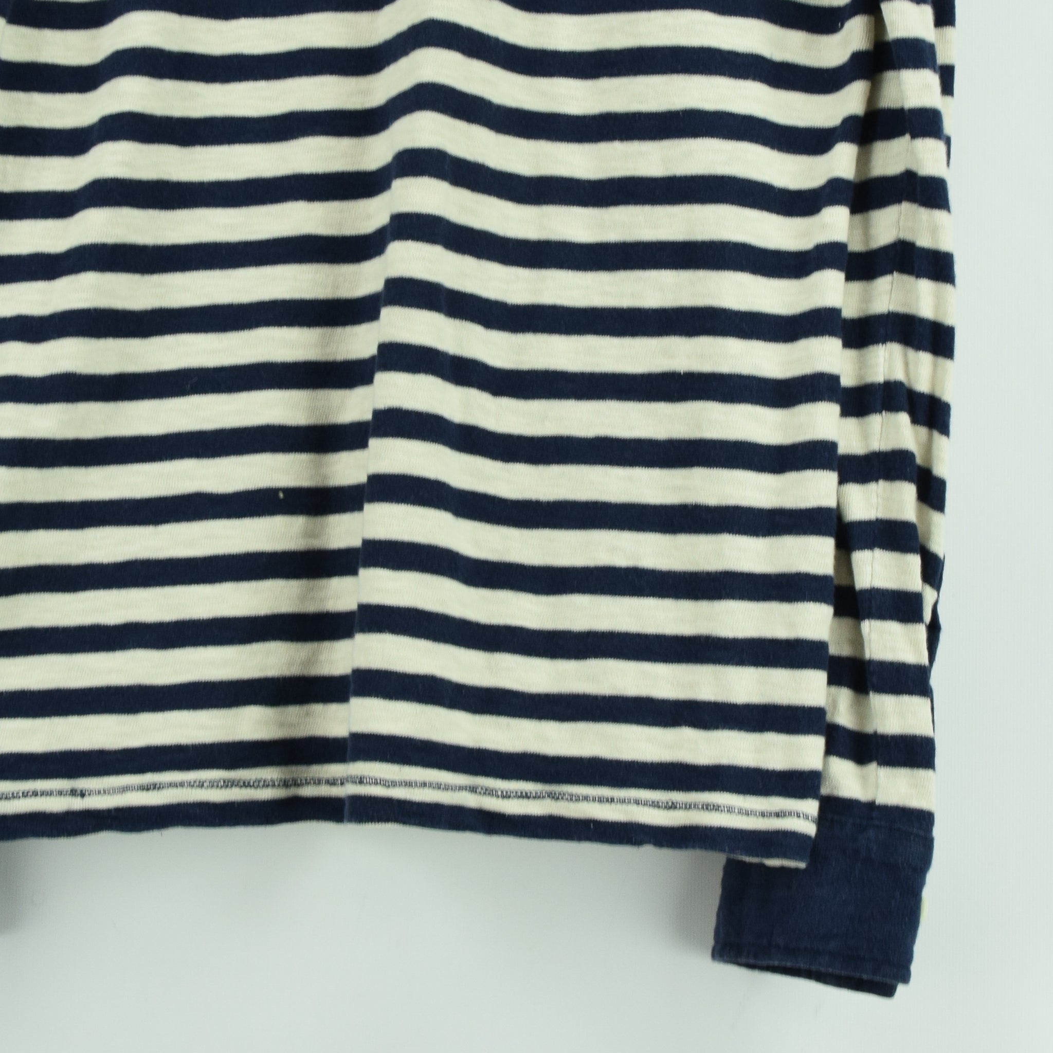 Vintage NN 07 Breton Striped Sailor's Long Sleeved Cotton T-shirt Top S / M back hem