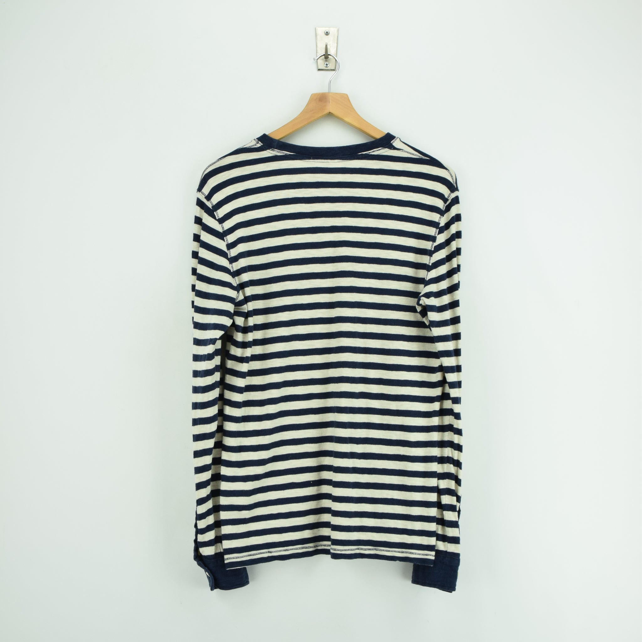 Vintage NN 07 Breton Striped Sailor's Long Sleeved Cotton T-shirt Top S / M back