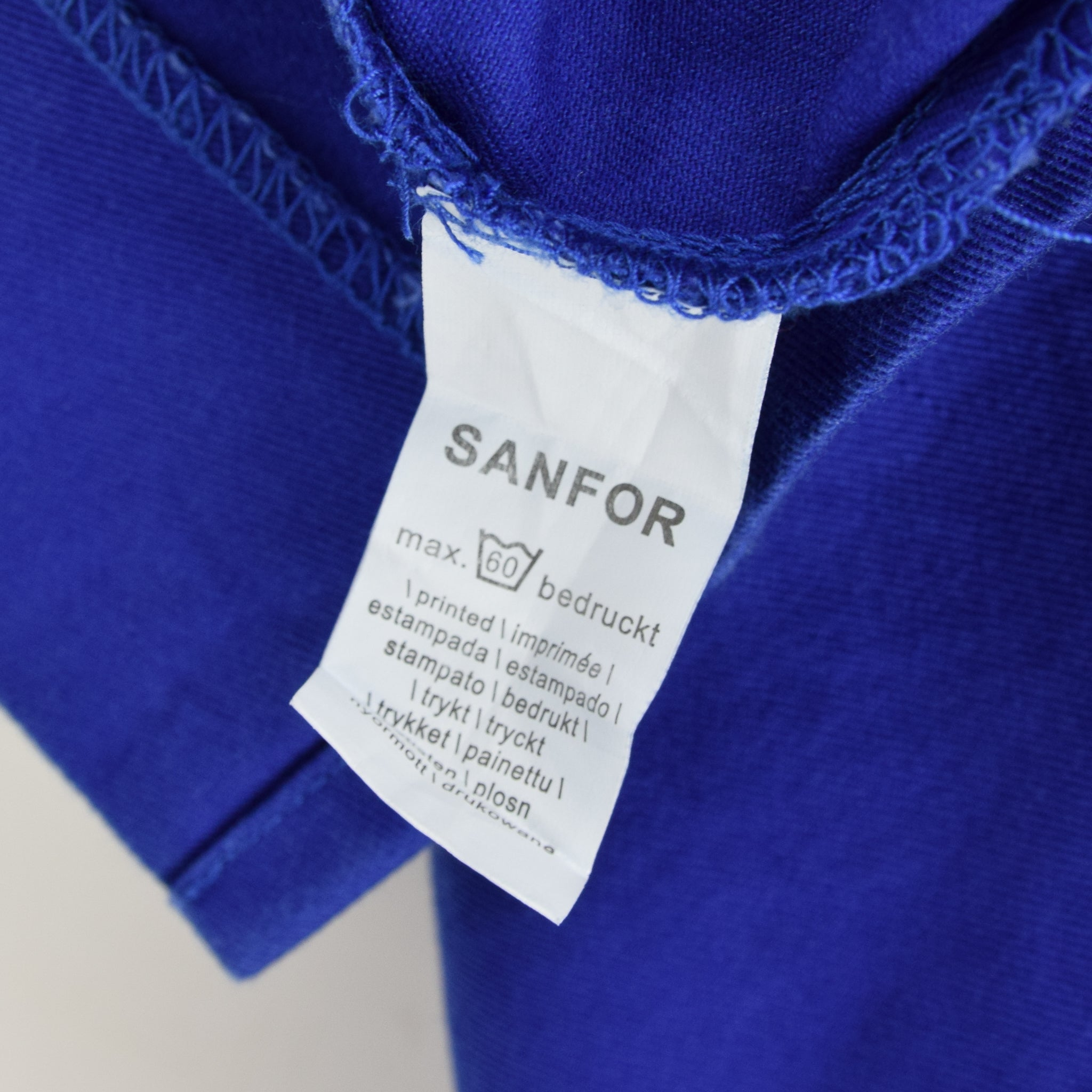 Vintage Bright Blue French Style Worker Sanforized Chore Shirt Jacket M / L label