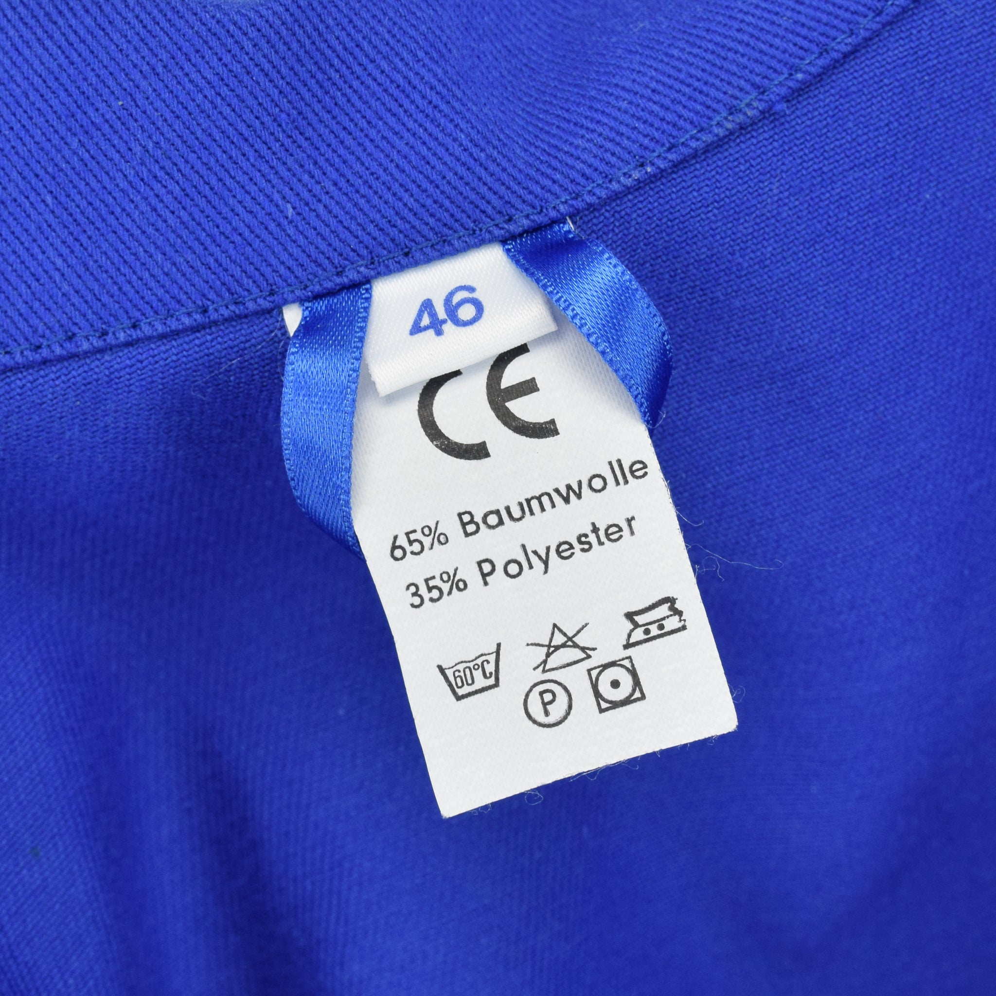 Vintage Bright Blue French Style Worker Sanforized Cotton Chore Jacket M label