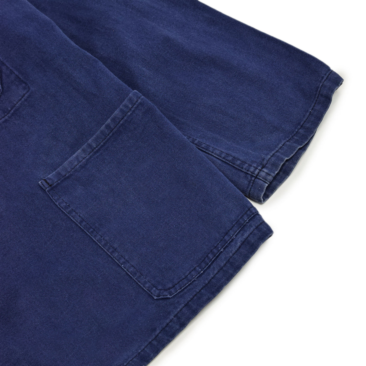 Vintage Indigo Blue French Worker Sanforized Cotton Twill Chore Jacket XXL CUFF