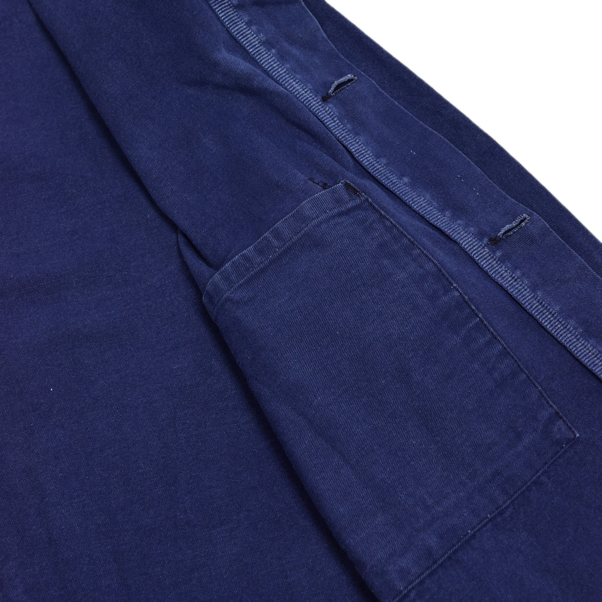 Vintage Indigo Blue French Worker Sanforized Cotton Twill Chore Jacket XXL INTERNAL POCKET