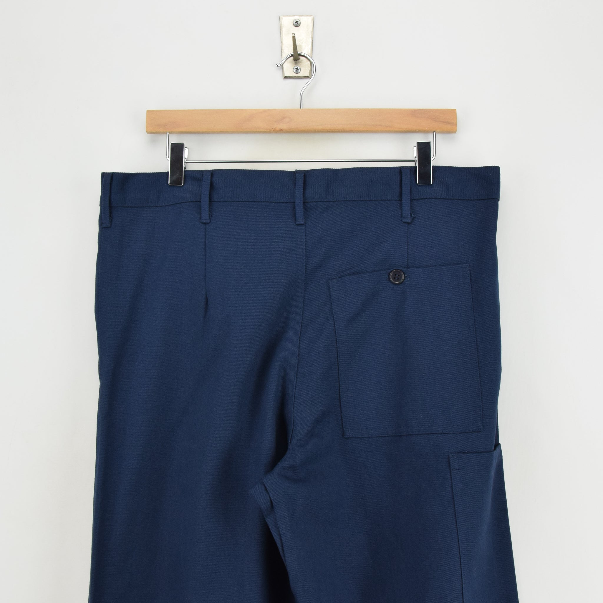 Vintage Workwear Blue French Style Work Utility Trousers Italy Made 34 W 32 L waist