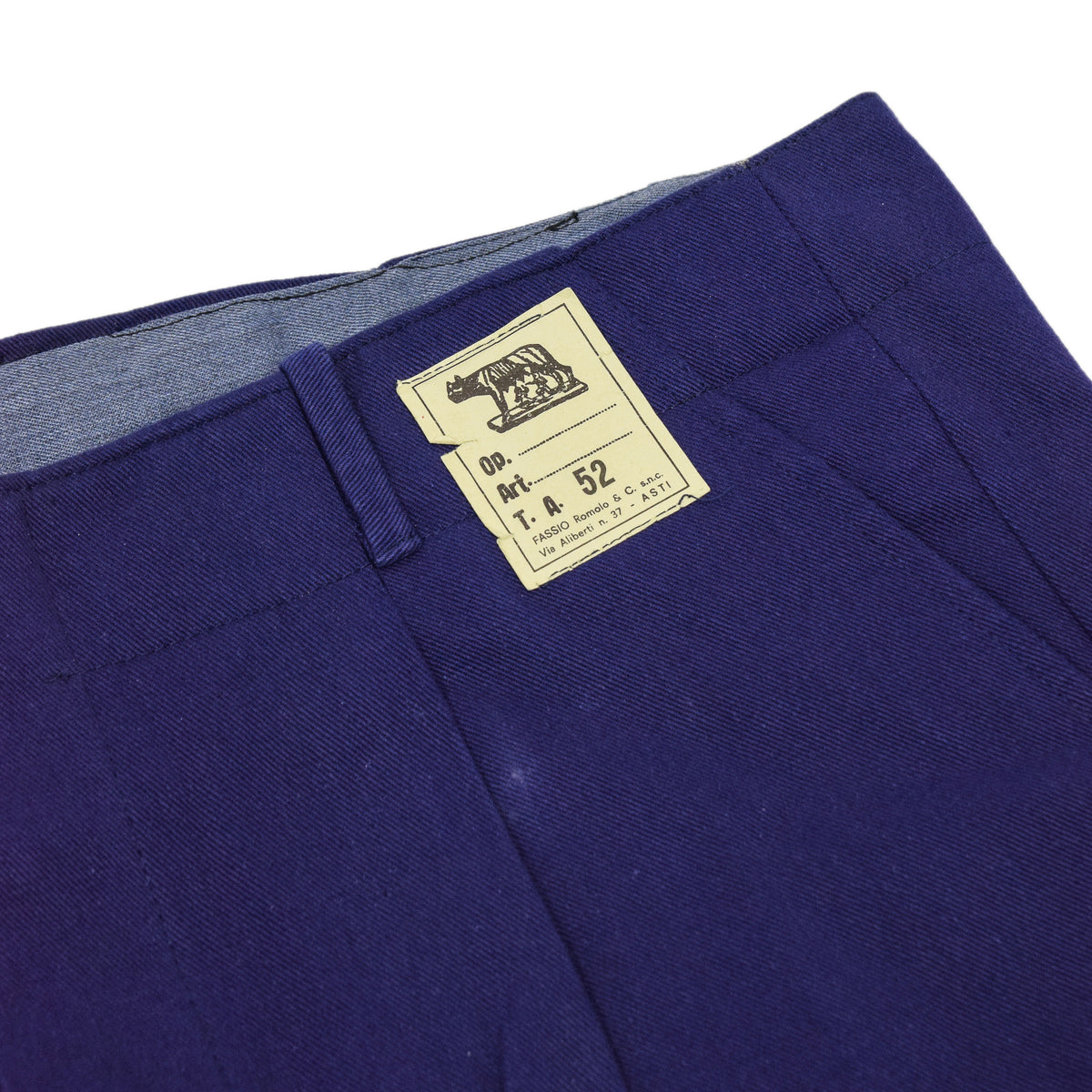 Vintage Workwear Blue French Style Work Utility Trousers Italy Made 36 W 28 L manufacturers label