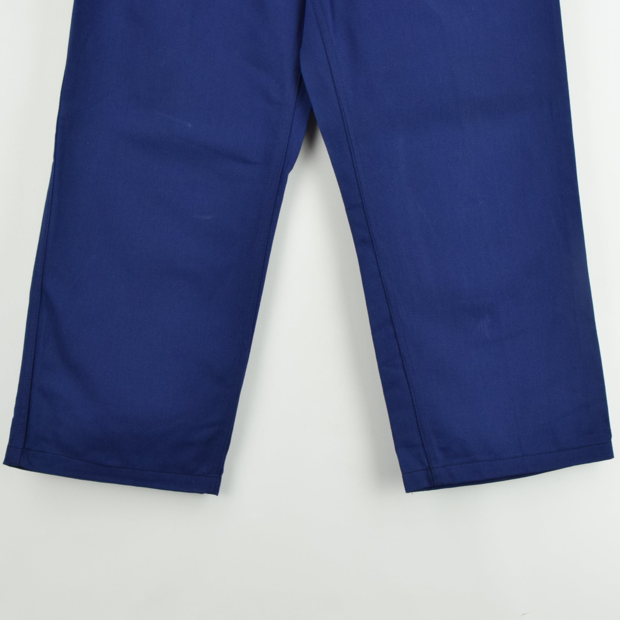 Vintage Workwear Blue French Style Work Utility Trousers Italy Made 32 W 25 L hem
