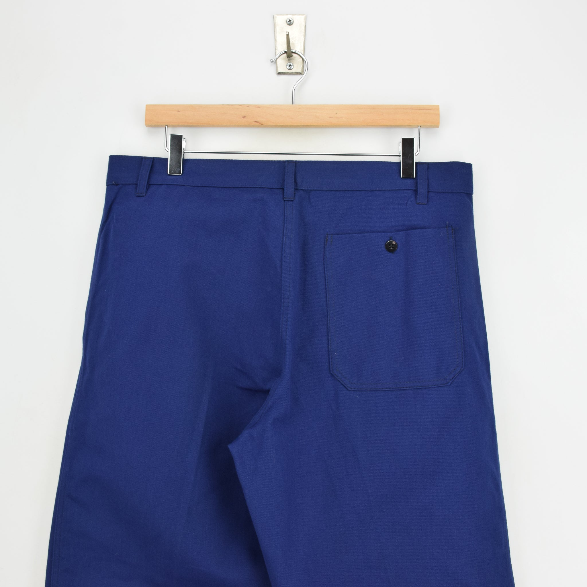 Vintage Workwear Blue French Style Work Utility Trousers Italy Made 32 W 25 L waist
