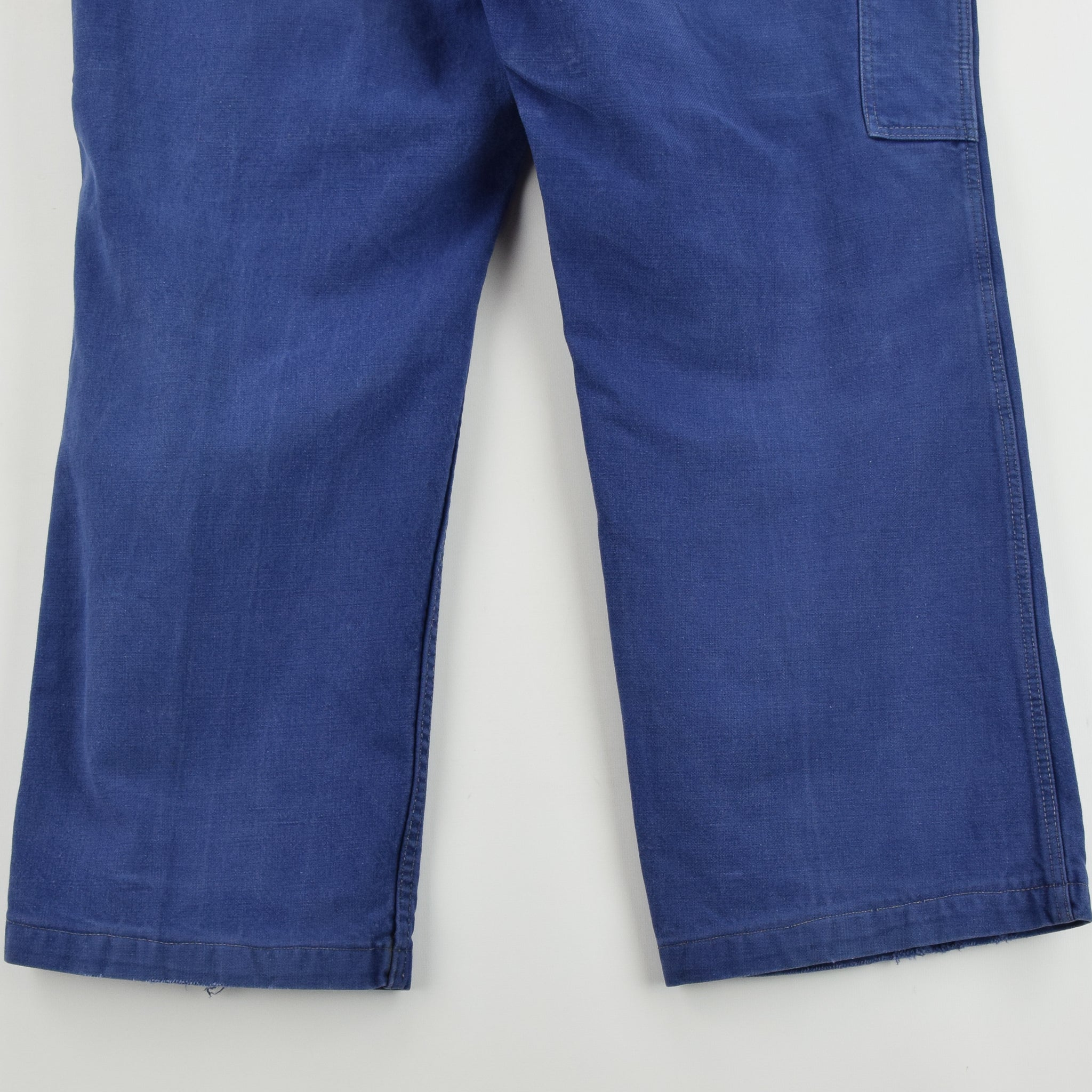 Vintage Workwear Blue Vetra French Work Utility Trousers France Made 36 W 28 L back hem
