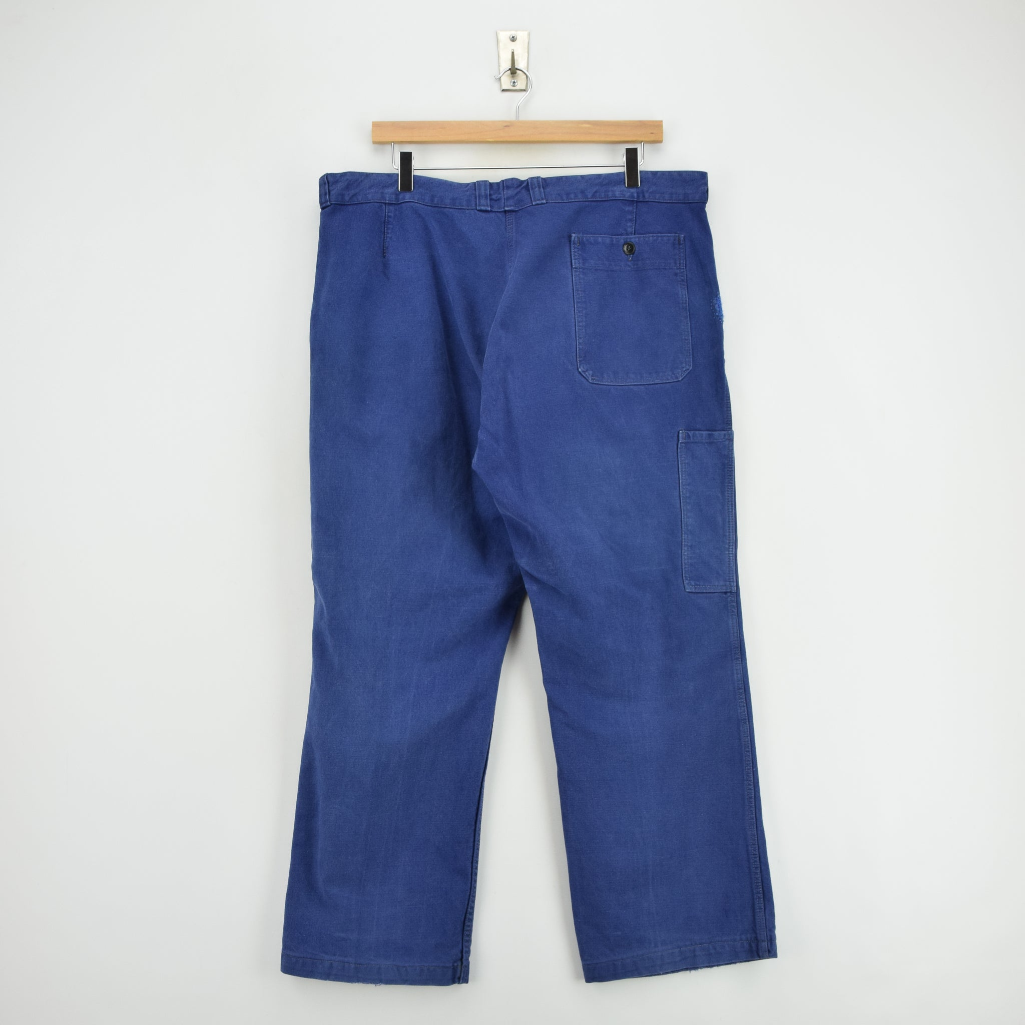 Vintage Workwear Blue Vetra French Work Utility Trousers France Made 36 W 28 L back