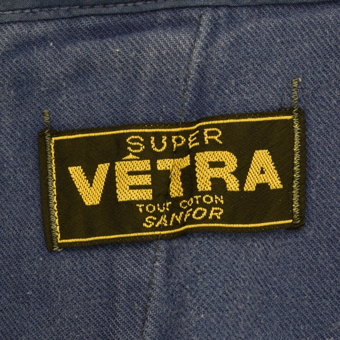 Vintage Workwear Blue Vetra French Work Utility Trousers France Made 36 W 28 L Sanforized label
