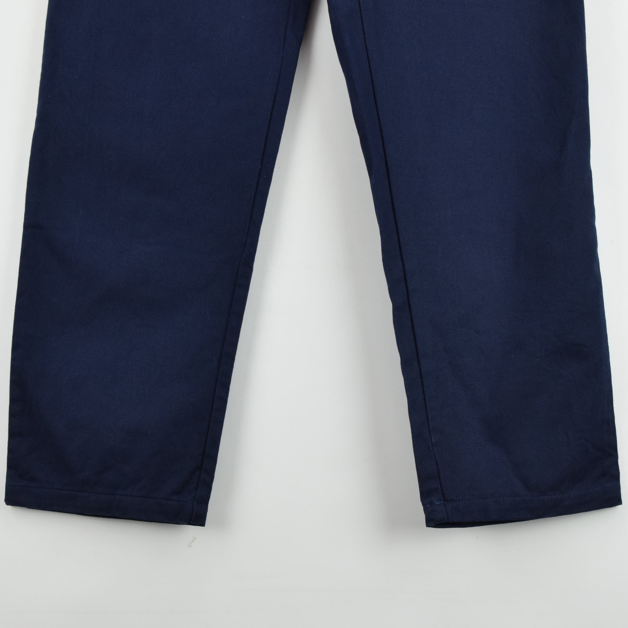 Vintage Deadstock Blue French Style Work Utility Trousers Italy Made 34 W 34 L front hem