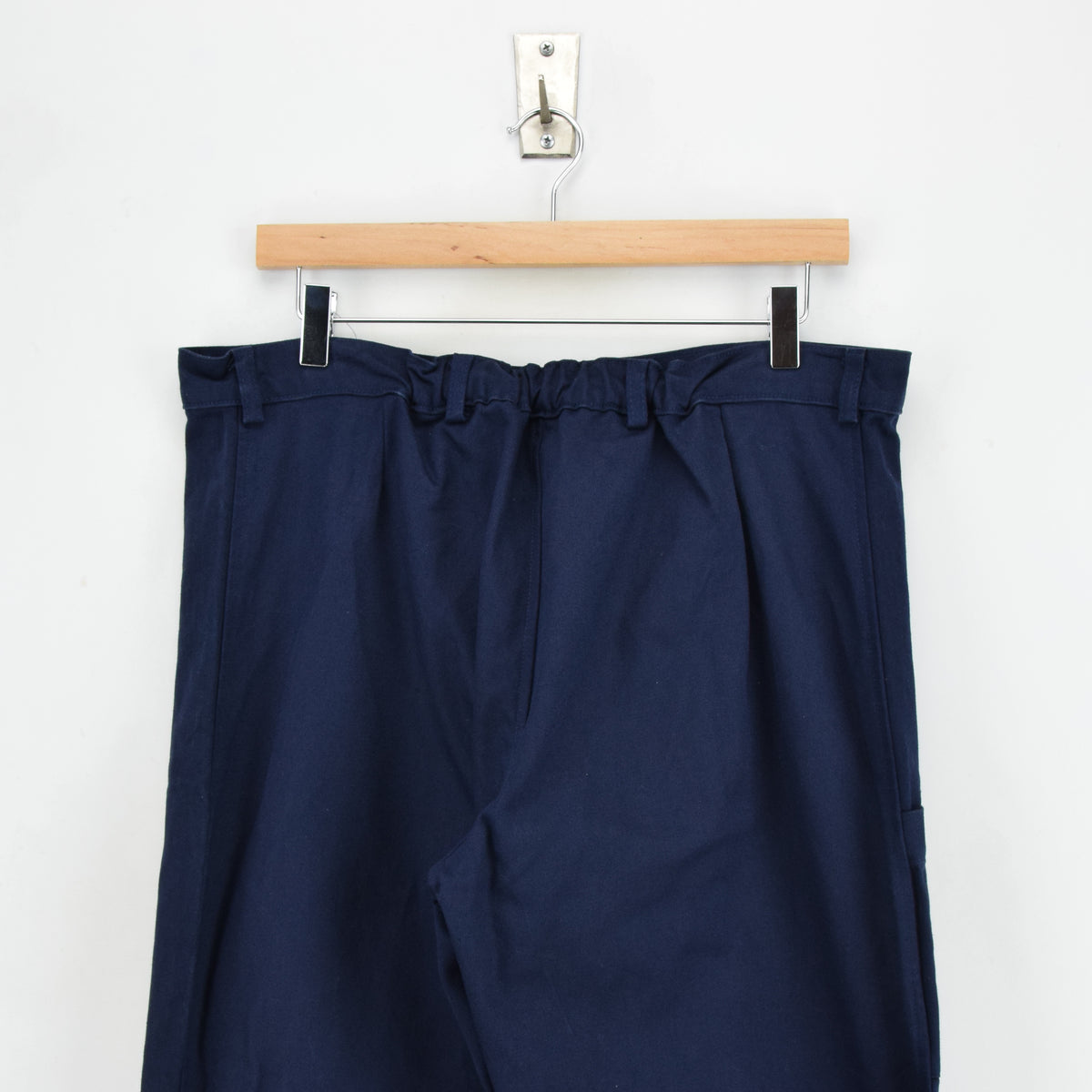 Vintage Deadstock Blue French Style Work Utility Trousers Italy Made 34 W 34 L back waist
