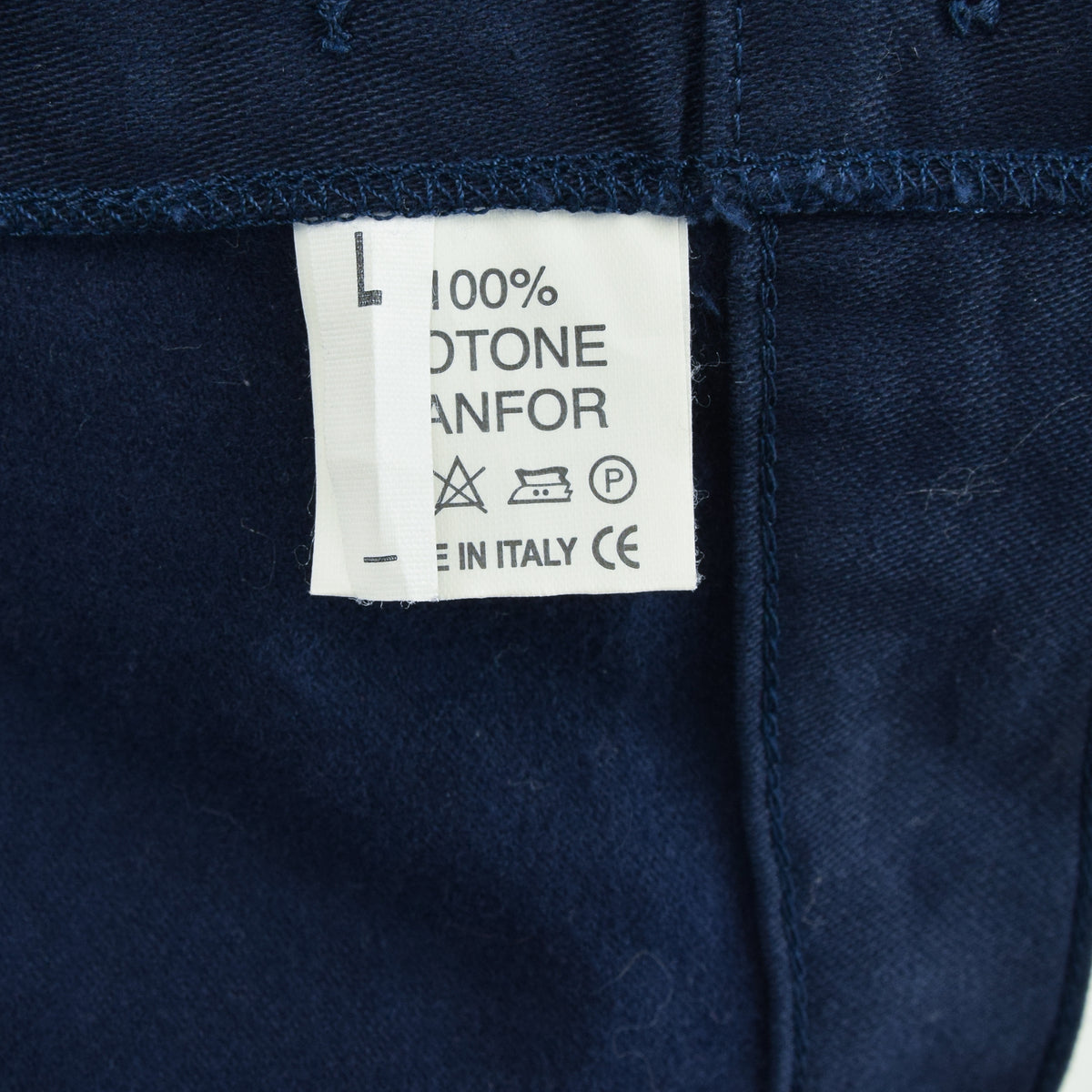 Vintage Deadstock Blue French Style Work Utility Trousers Italy Made 34 W 34 L label