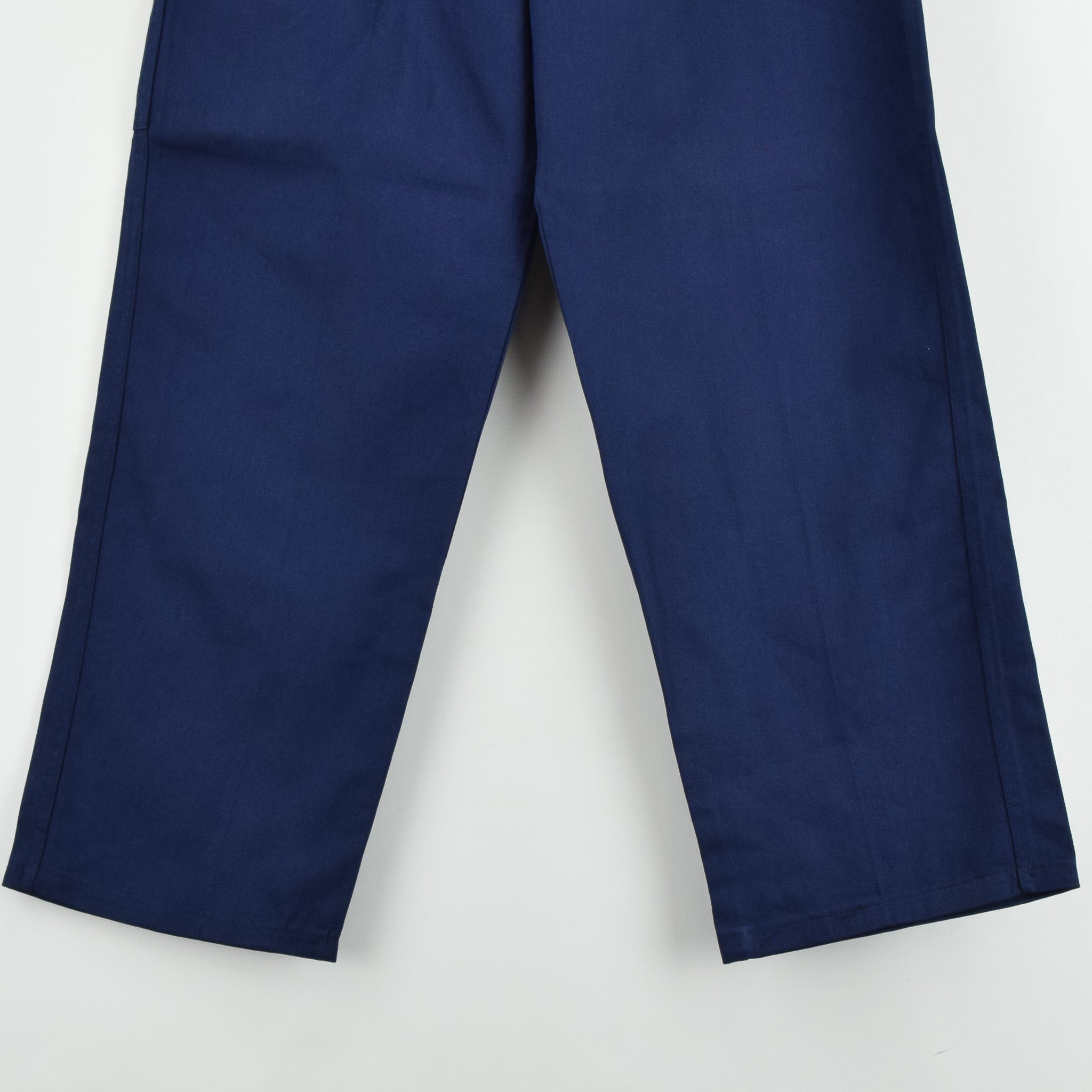 Vintage Deadstock Blue French Style Work Utility Trousers Italy Made 30 W 28 L front hem