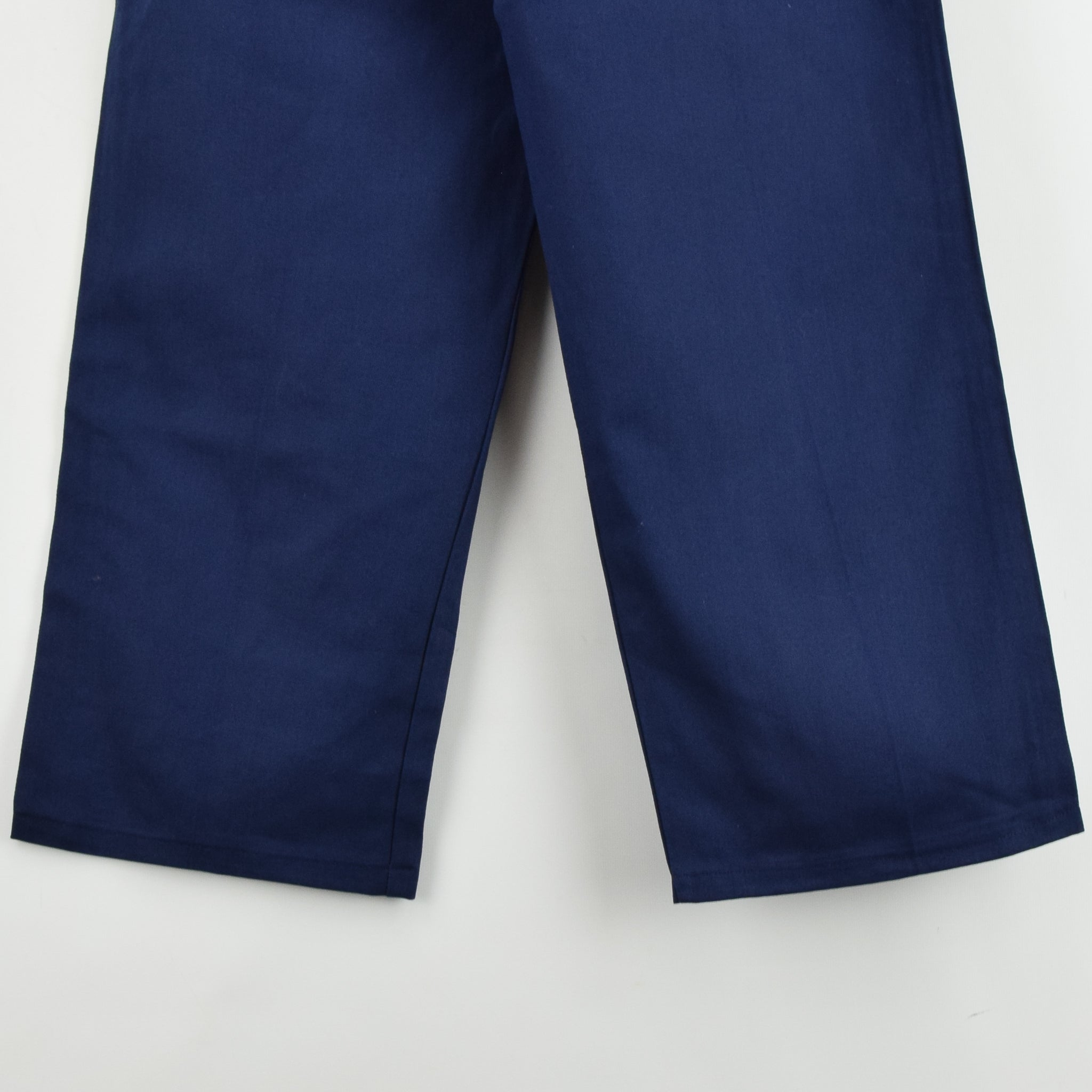 Vintage Deadstock Blue French Style Work Utility Trousers Italy Made 30 W 28 L back hem