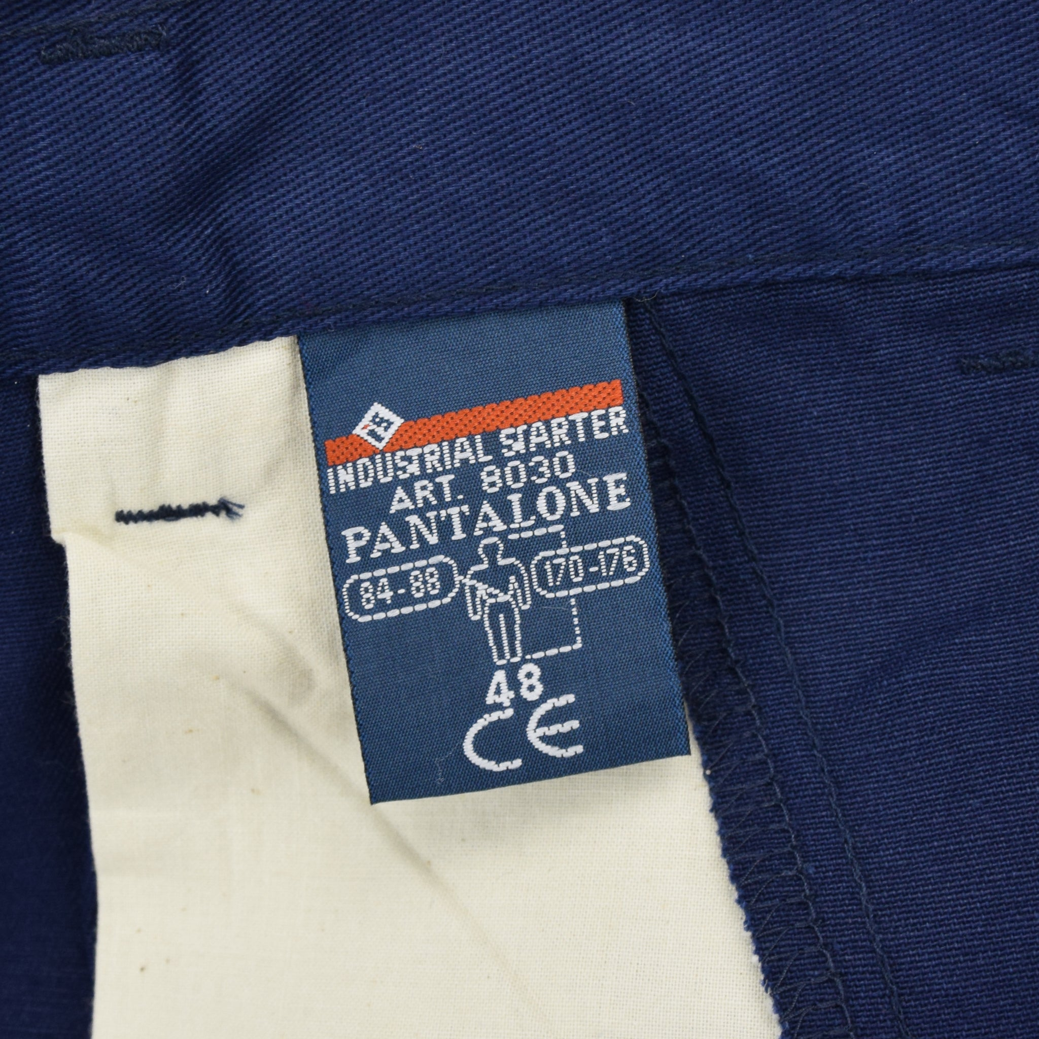 Vintage Deadstock Blue French Style Work Utility Trousers Italy Made 30 W 28 L label