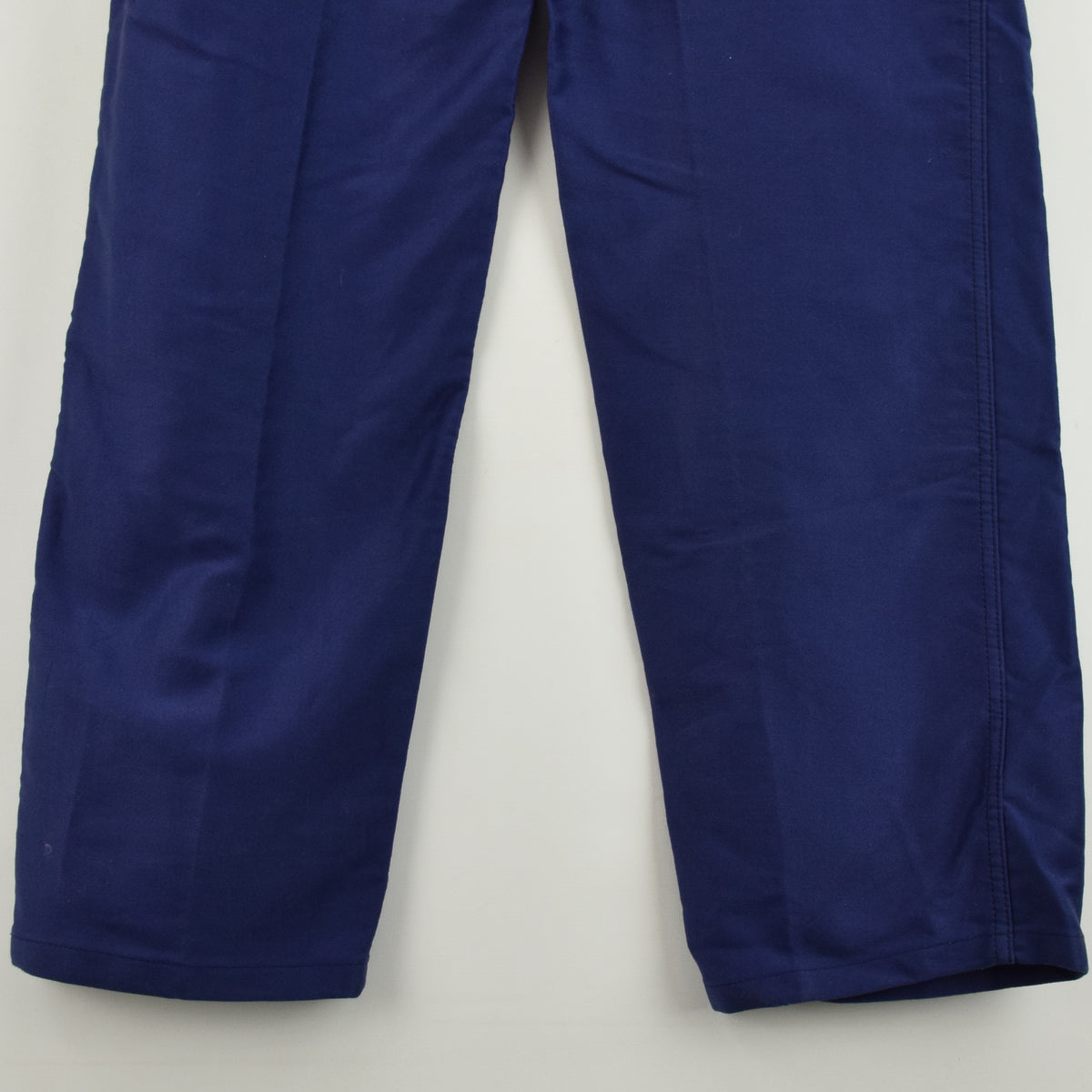 Vintage Adolphe Lafont Workwear Blue French Work Trousers 38 W 32 L back hem
