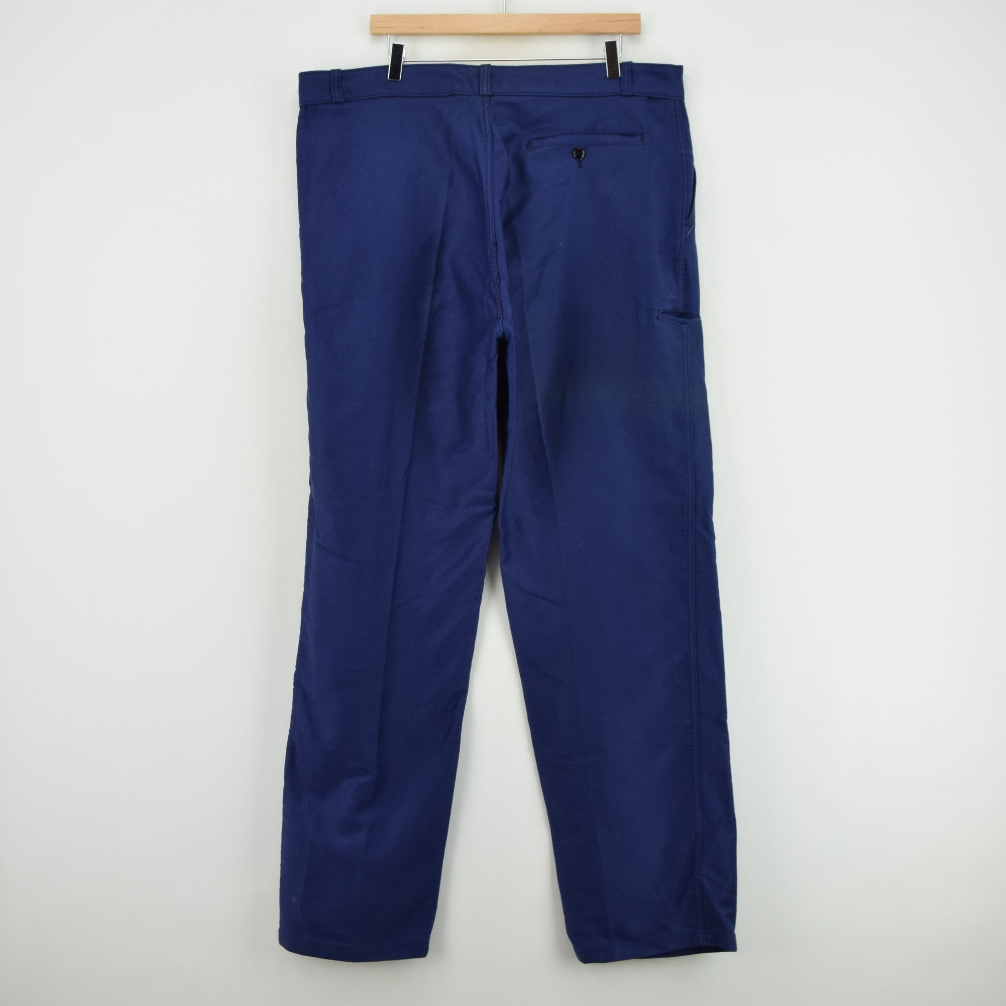 Vintage Adolphe Lafont Workwear Blue French Work Trousers 38 W 32 L back