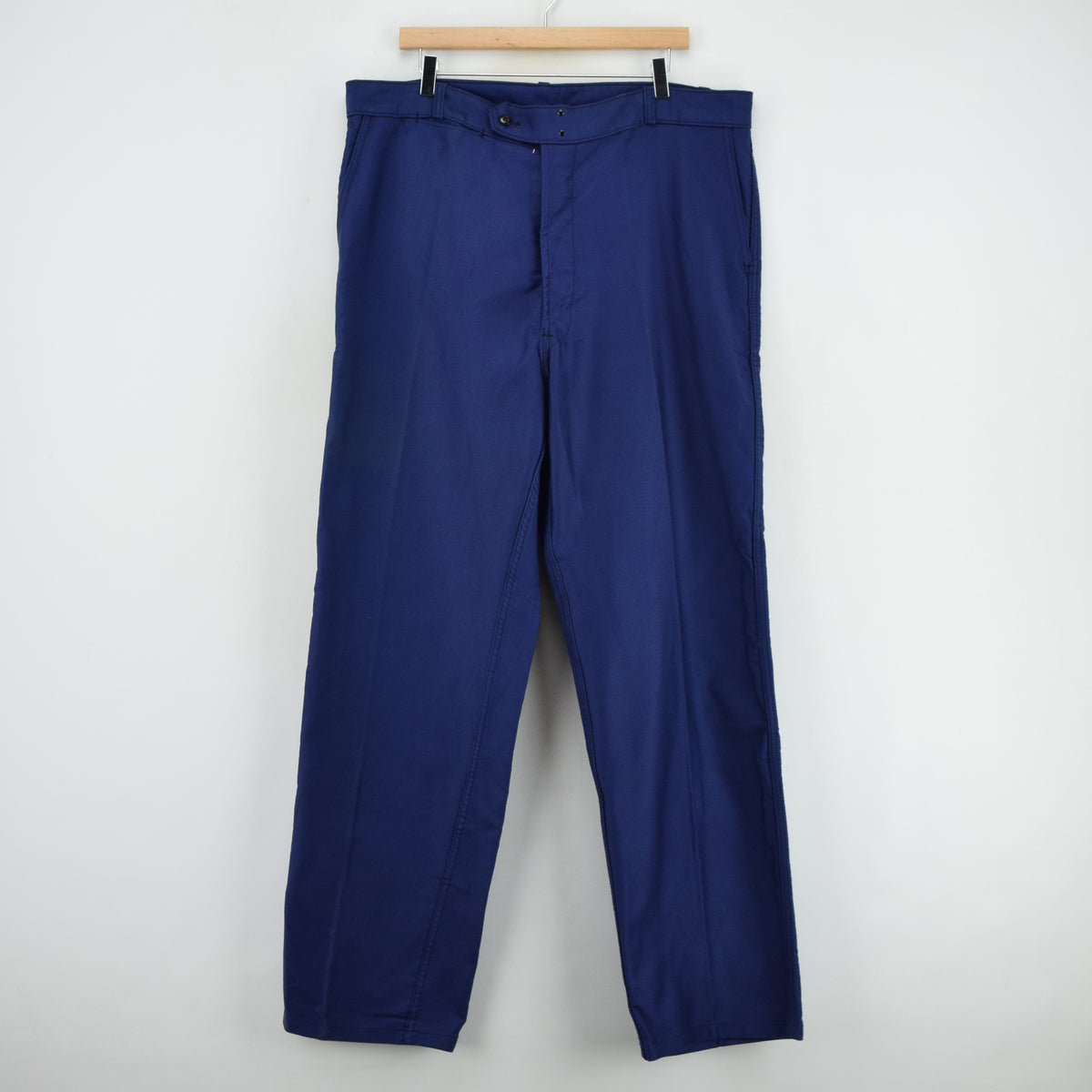 Vintage Adolphe Lafont Workwear Blue French Work Trousers 38 W 32 L front