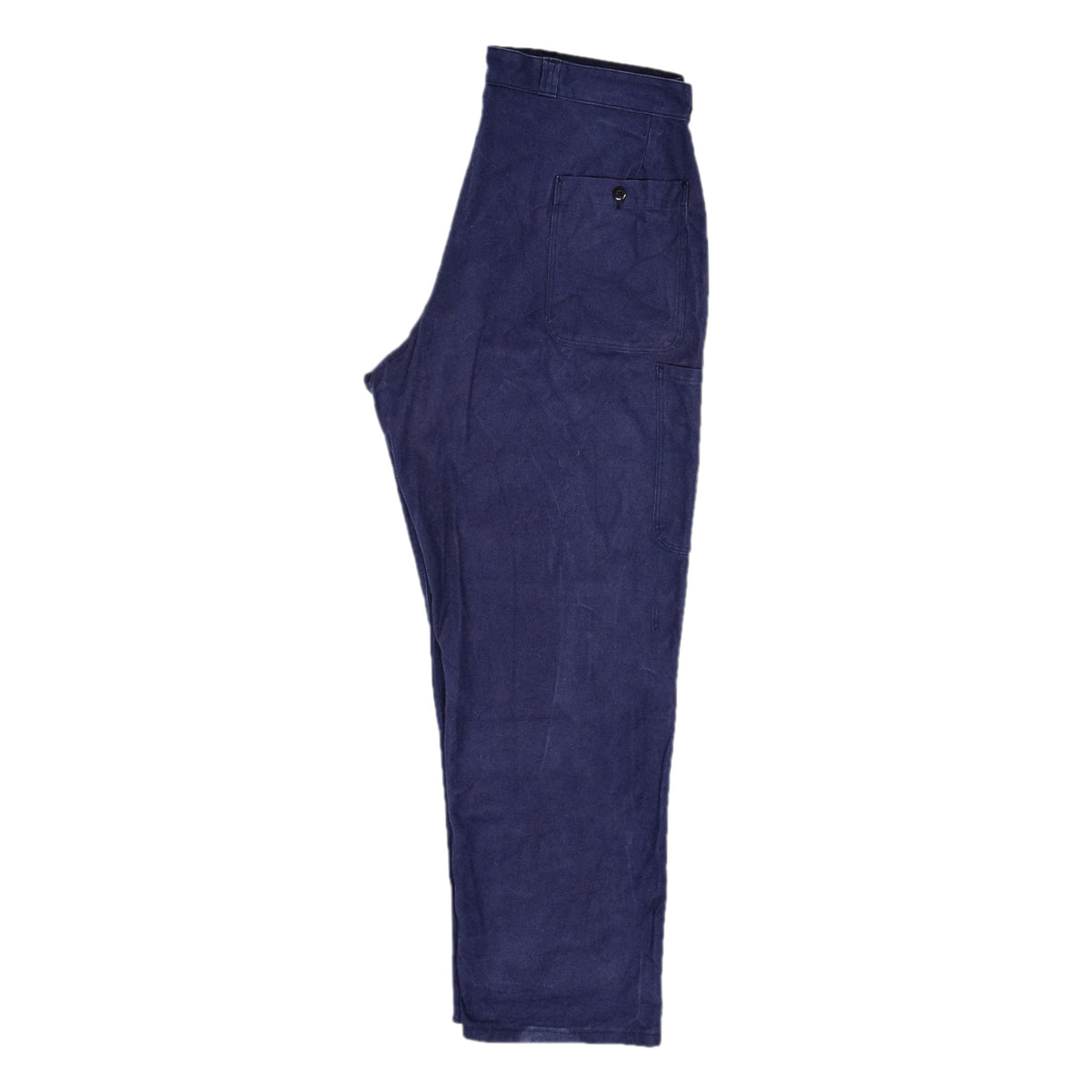 Vintage Indigo Blue French Work Pant Utility Trousers Made in France 38 W 30 L back