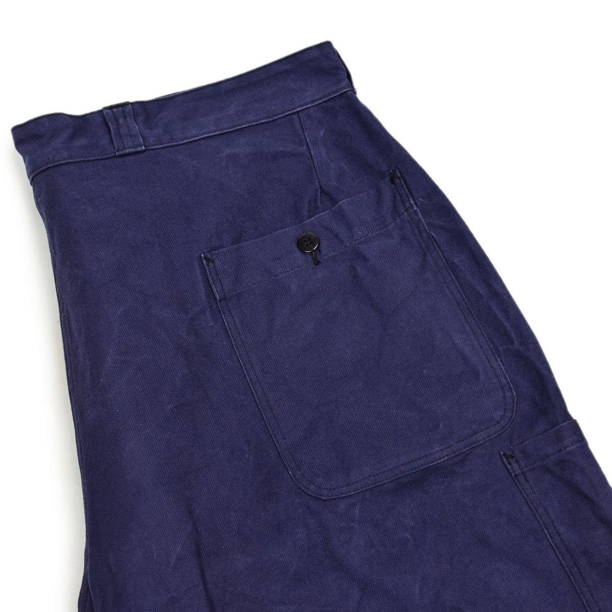 Vintage Indigo Blue French Work Pant Utility Trousers Made in France 38 W 30 L back pocket