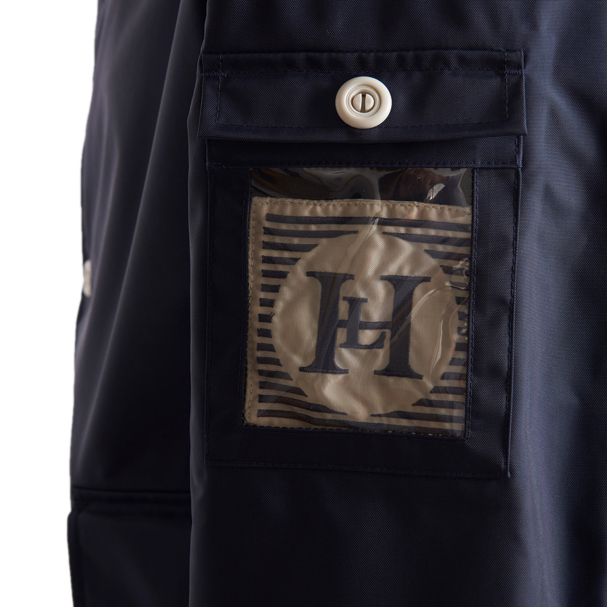 Henri Lloyd X Nigel Cabourn Waterproof Deck Jacket Navy Black Badge