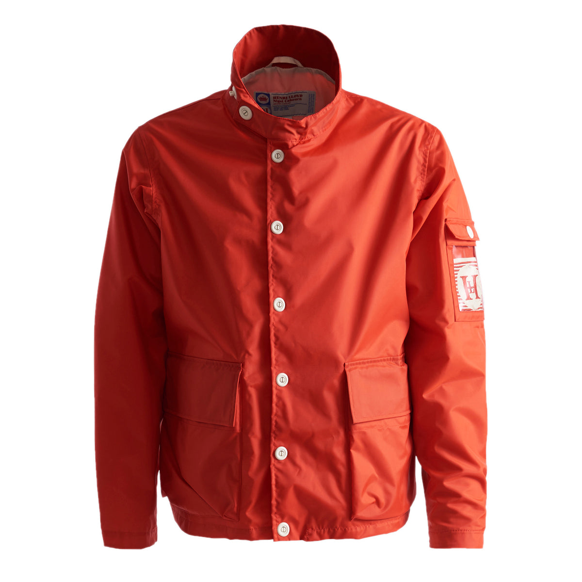 Henri Lloyd X Nigel Cabourn Waterproof Deck Jacket Old Red Front