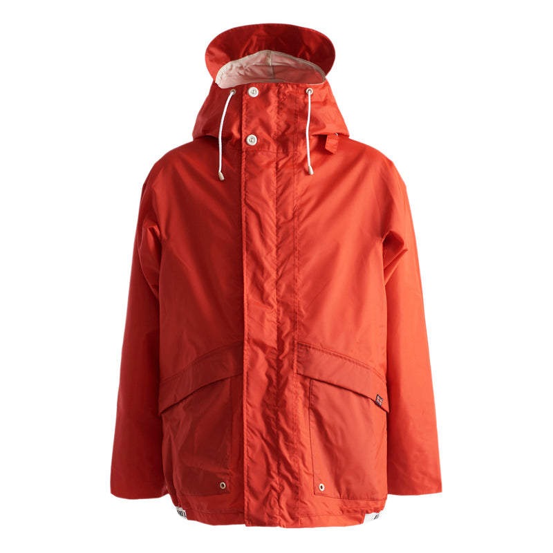 Henri Lloyd X Nigel Cabourn Waterproof Spray Jacket Old Red Front