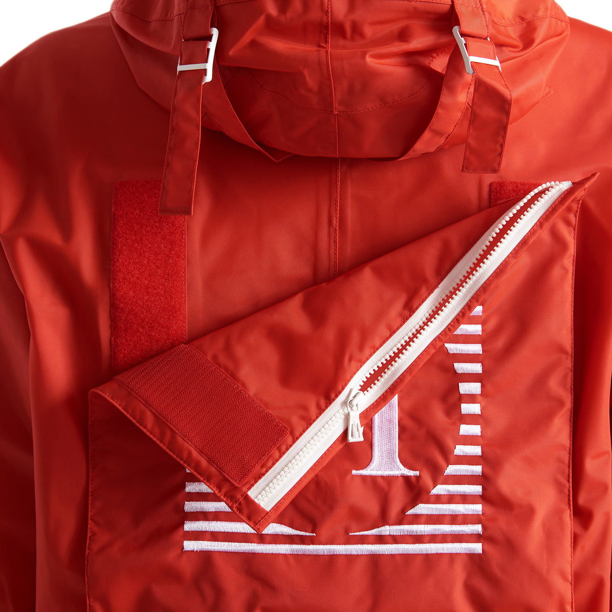 Henri Lloyd X Nigel Cabourn Waterproof Spray Jacket Old Red Velcro Bag