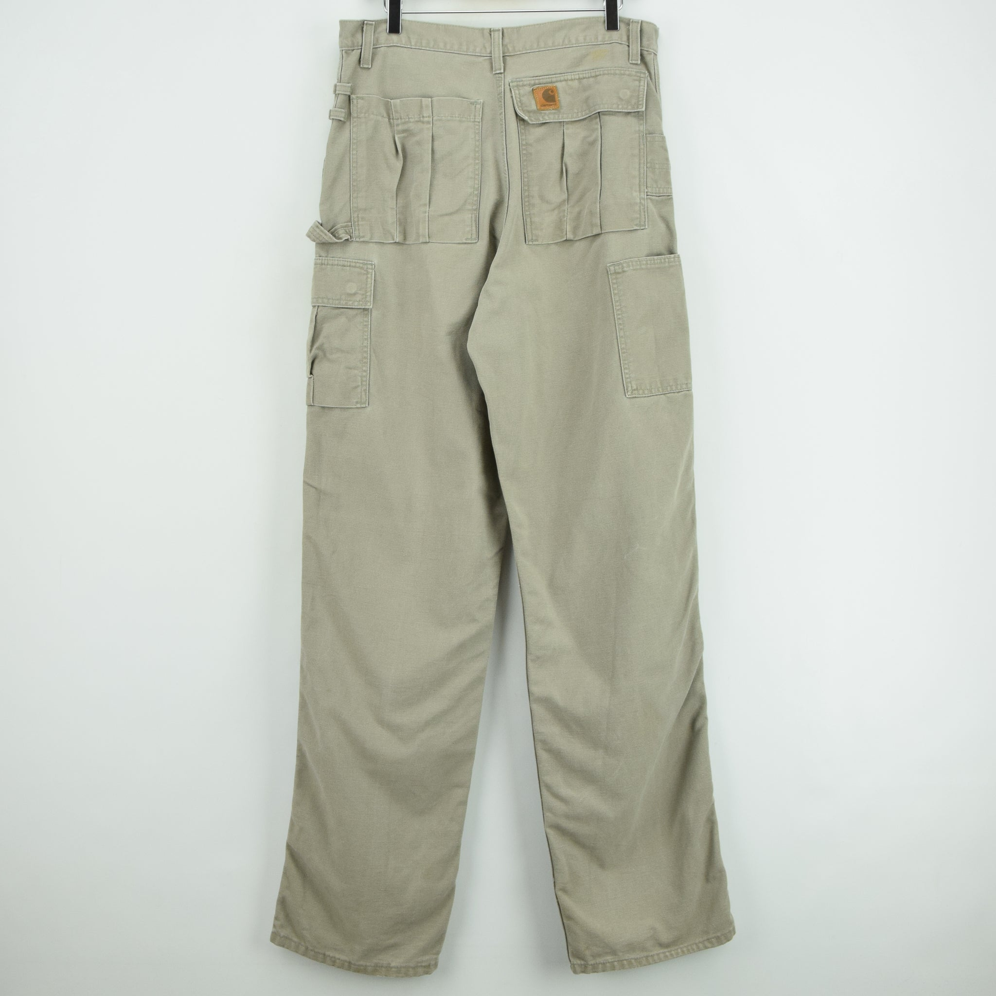 Vintage Carhartt Stone Duck Canvas Utility Work Cargo Pant 32 W 34 L back