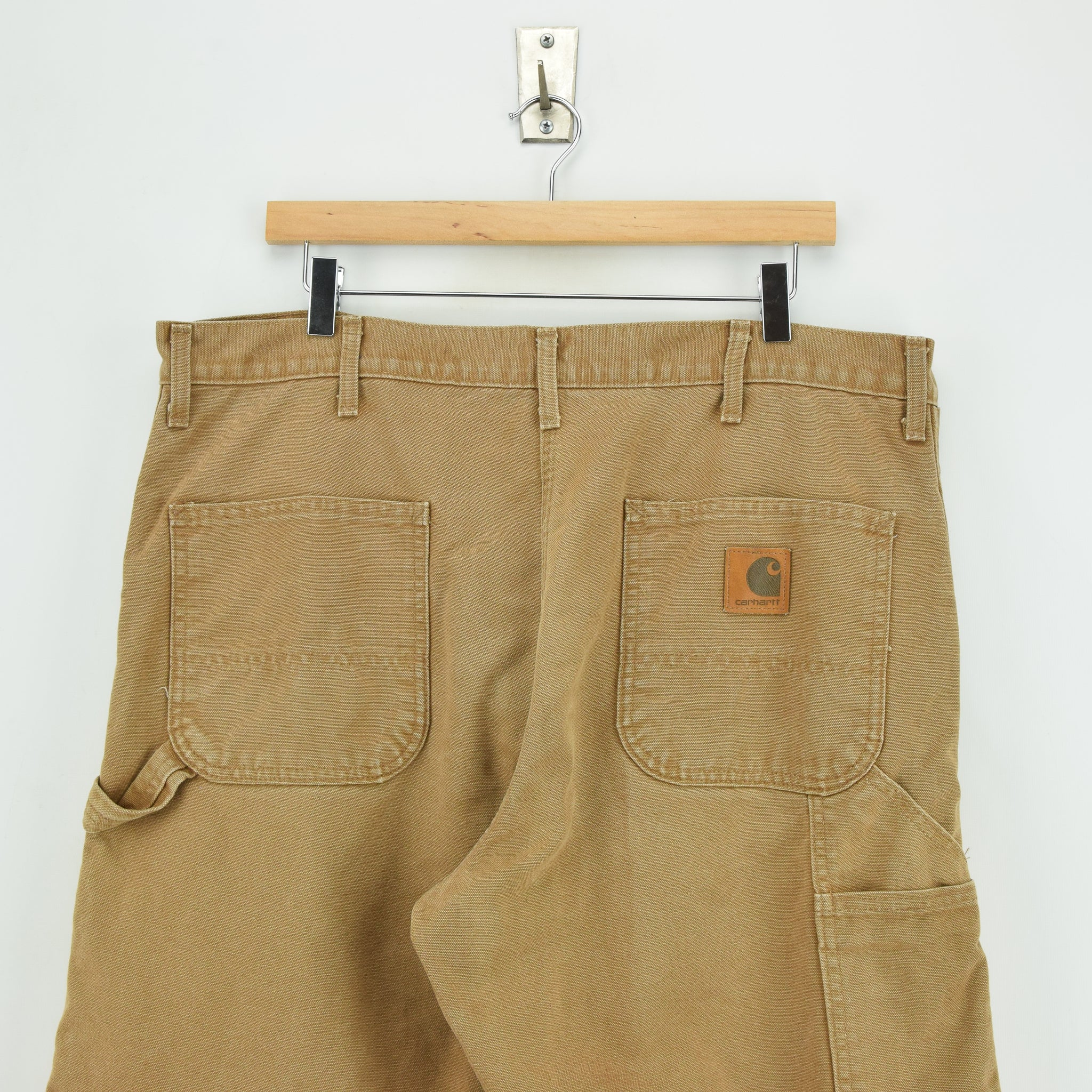 Vintage Carhartt Duck Canvas Utility Work Pant Blanket Lined USA Made 38 W 30 L back waist
