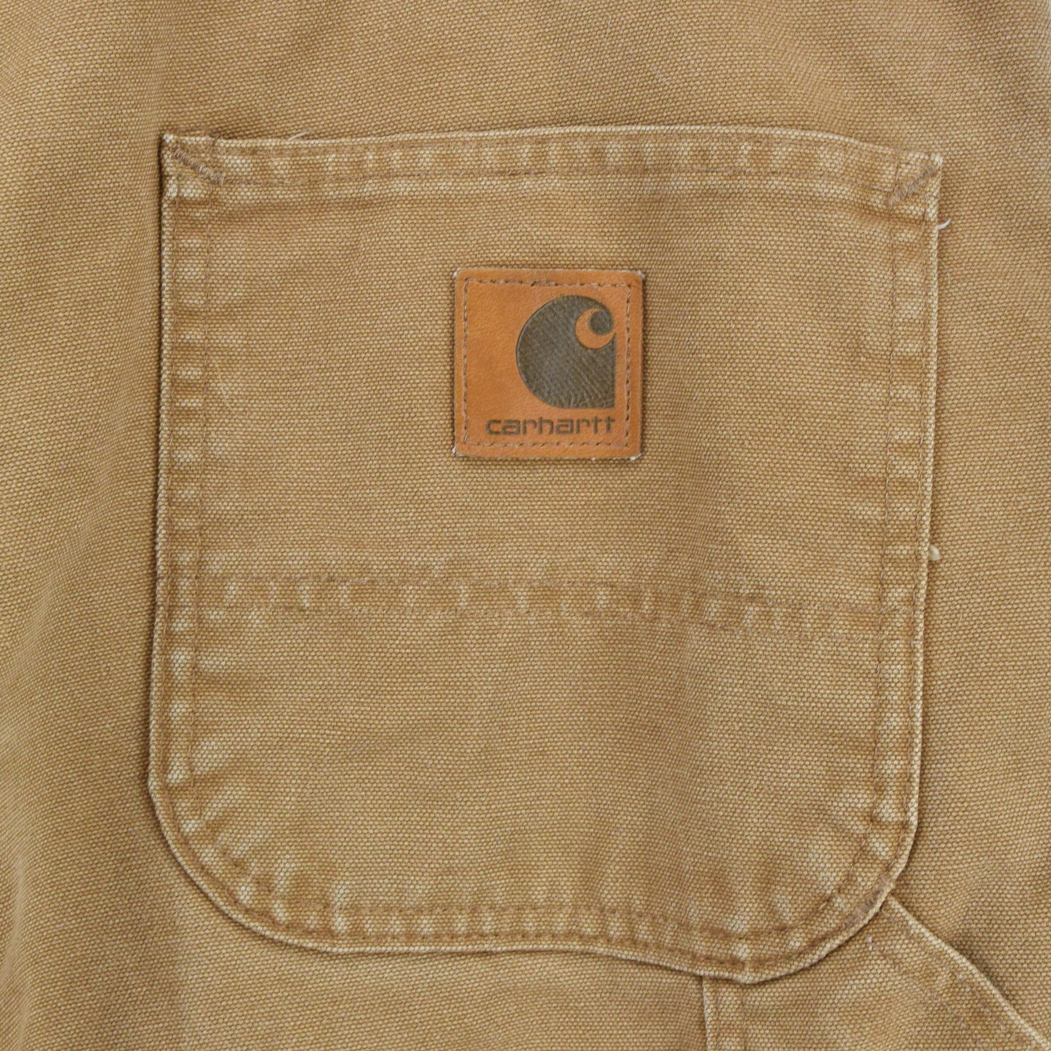 Vintage Carhartt Duck Canvas Utility Work Pant Blanket Lined USA Made 38 W 30 L back pocket