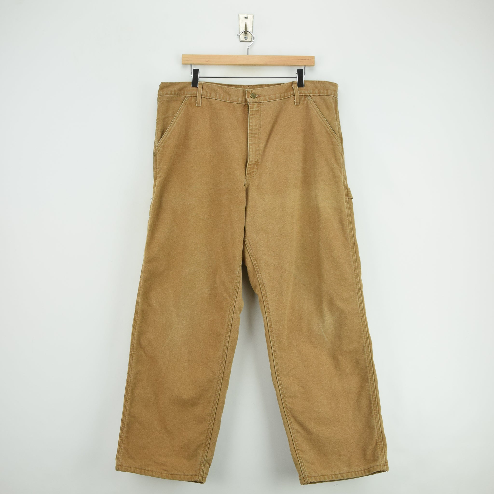 36b3d6c0 Vintage Carhartt Duck Canvas Utility Work Pant Blanket Lined USA Made 38 W  30 L