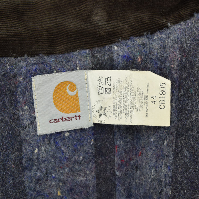 Vintage Carhartt USA Duck Canvas Black Worker Chore Jacket Blanket Lined L / XL label
