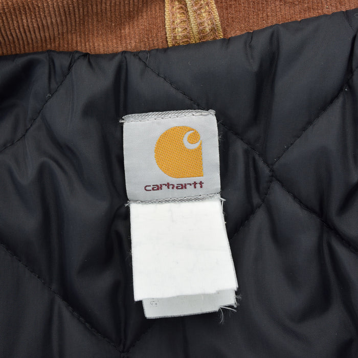 Vintage Carhartt Duck Canvas Tan Brown Worker Chore Jacket Made in USA XL label