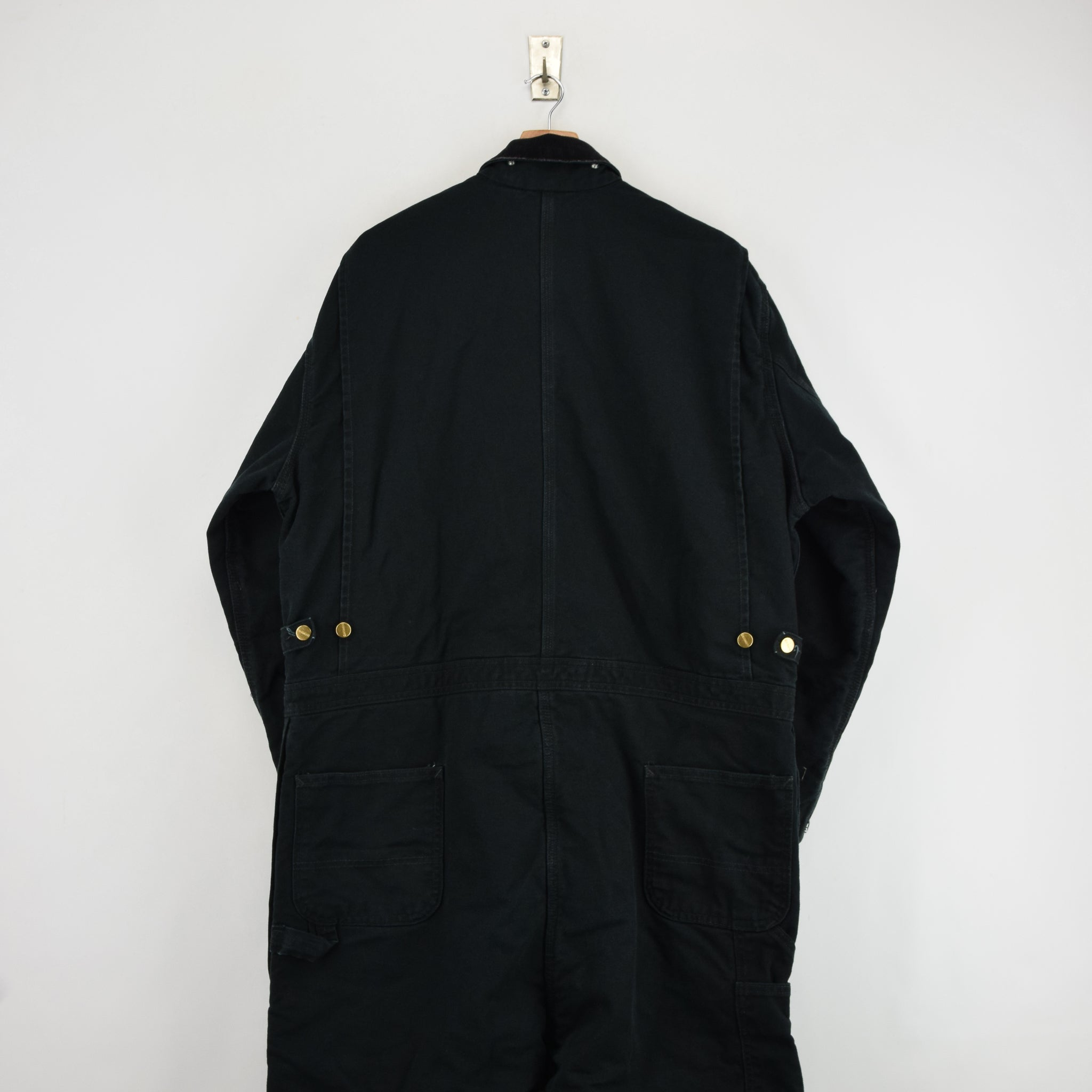 Vintage Carhartt Workwear Coverall Black Duck Canvas Boiler Suit 50 Tall 3XL back