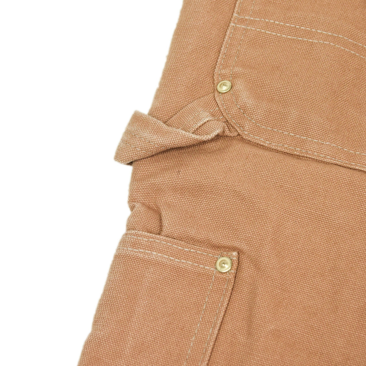 Vintage Carhartt Work Dungarees Tan Brown Duck Canvas Bib Overall Quilt Lined M detail