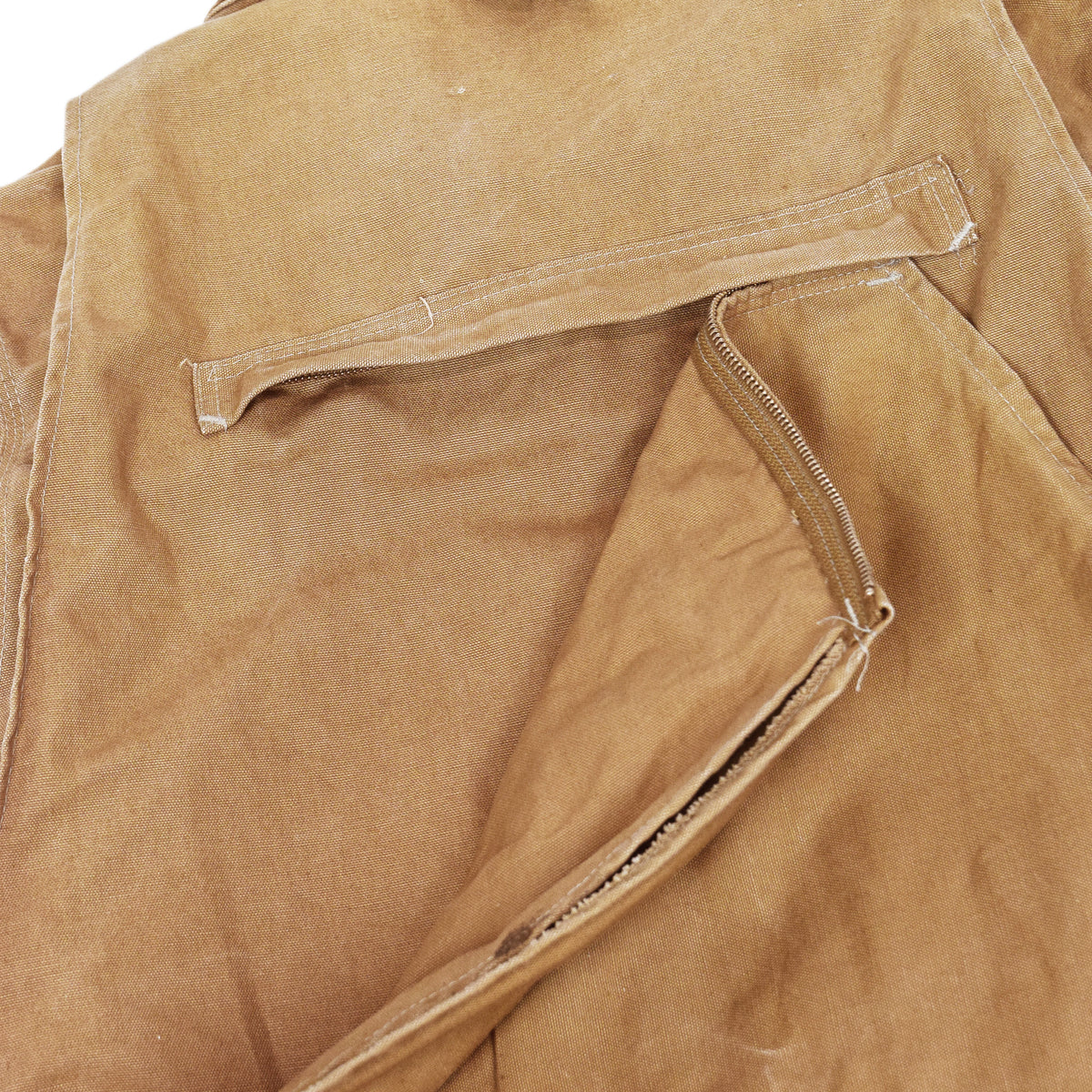 Vintage 80s Carhartt 100 Years Hunting Duck Canvas Shooting Jacket L zipper