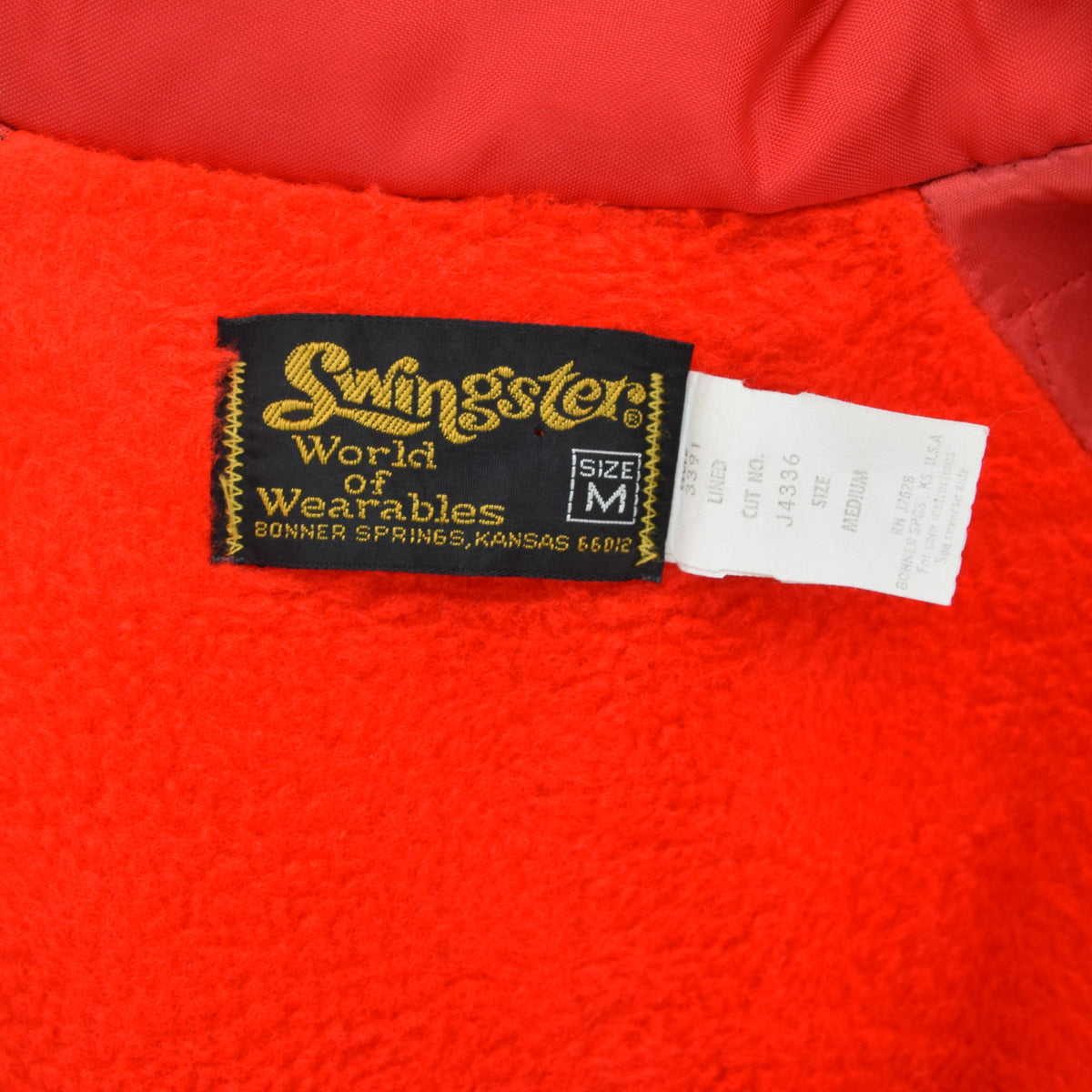 Vintage Swingsters Red Nylon Coach Jacket Made in USA M label