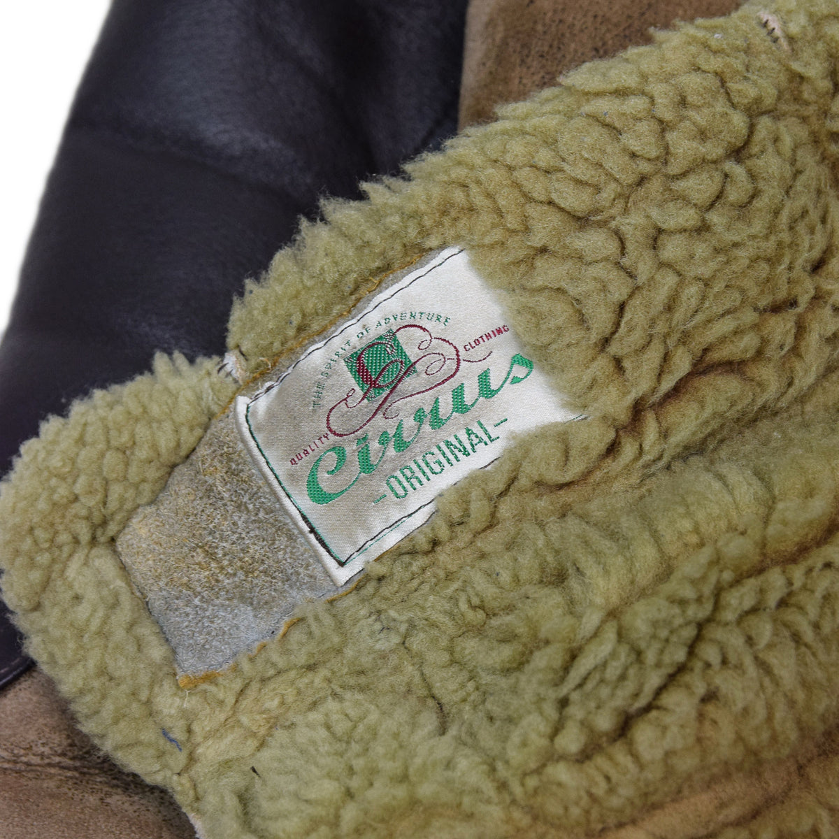 Vintage 90s Cirrus Gunner Sheepskin Leather Flying Jacket Made In England L / XL label