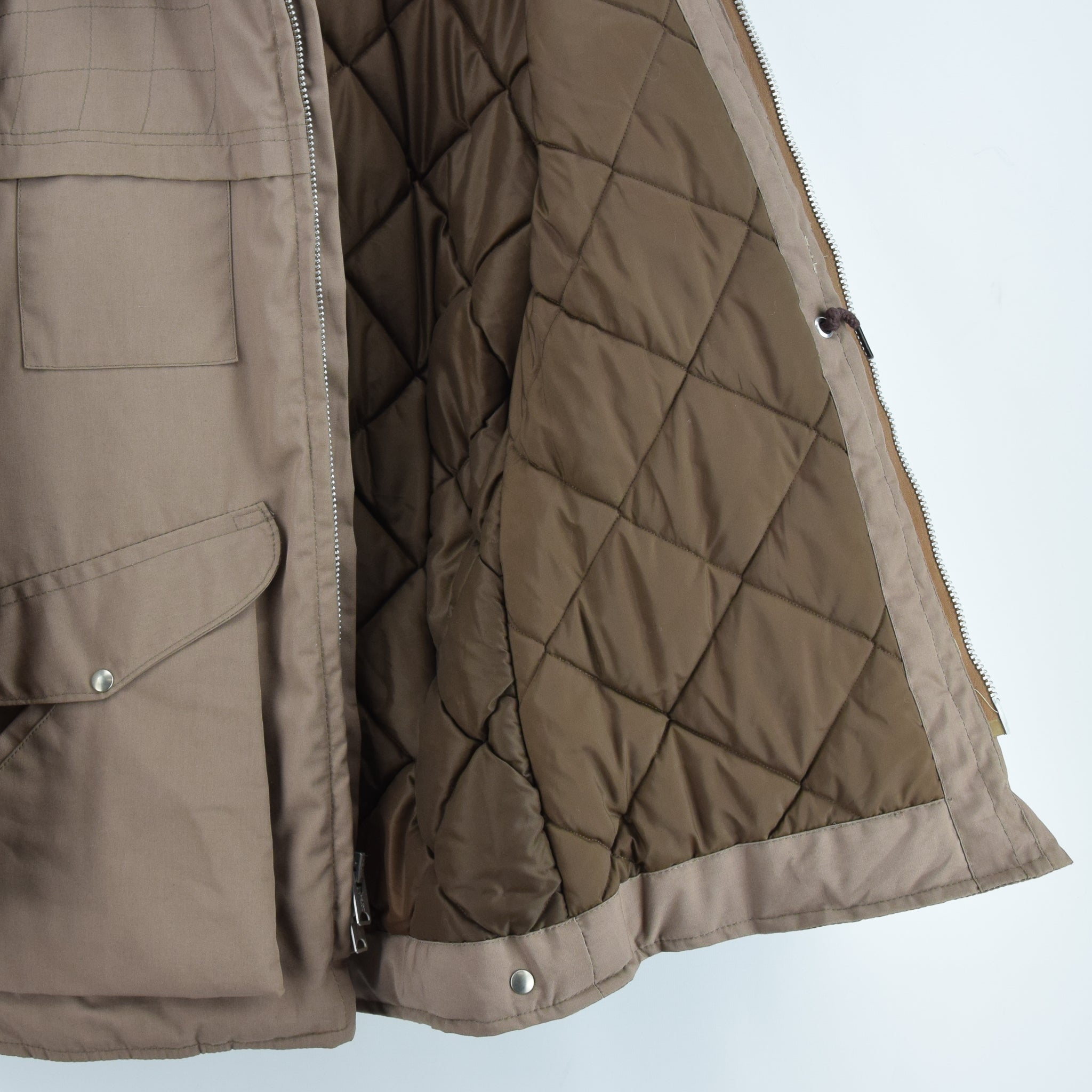 Vintage 70s 10-X Mfg Co USA Quilted Hunting Shooting Jacket Talon Zip XS / S lining
