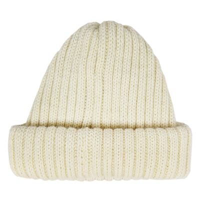 Connor Reilly Wool Watch Cap White Made In England Front