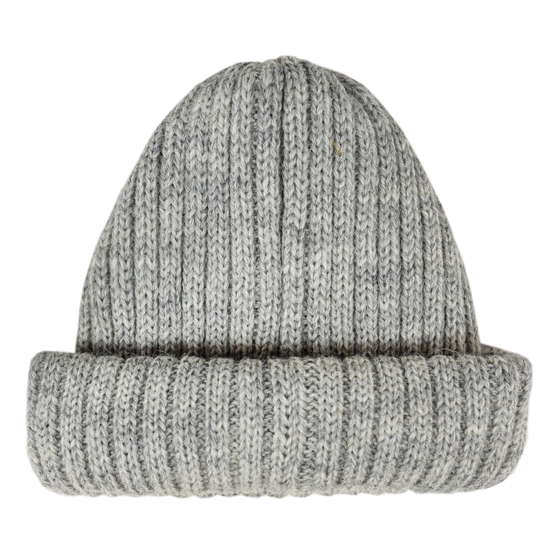 Connor Reilly Wool Watch Cap Grey Made In England Front