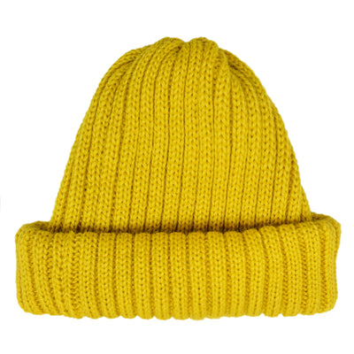 Connor Reilly Wool Watch Cap Yellow Made In England Front