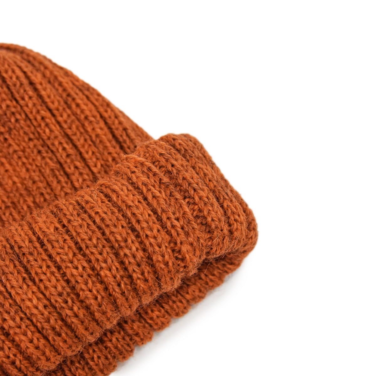 Connor Reilly Wool Watch Cap Rust Made In England Wool Detail
