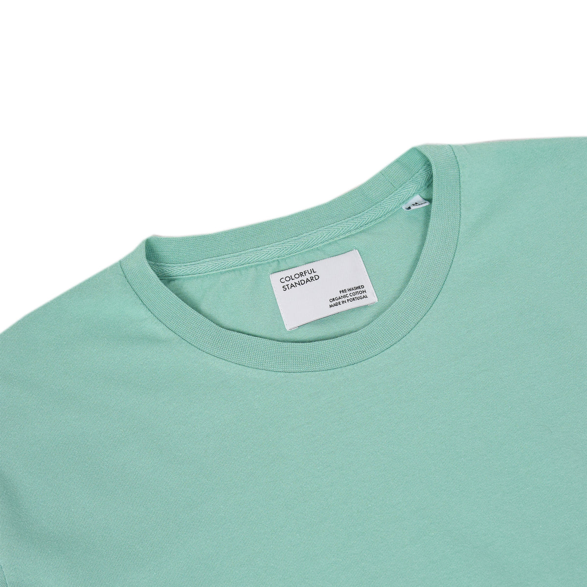 Colorful Standard Organic Cotton Tee Faded Mint label
