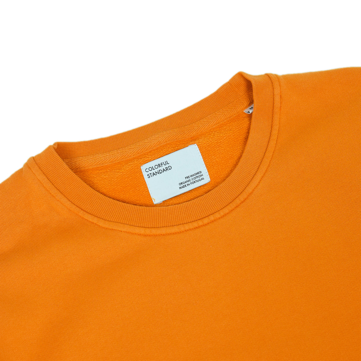 Colorful Standard Crew Sweat Organic Cotton Burned Orange label