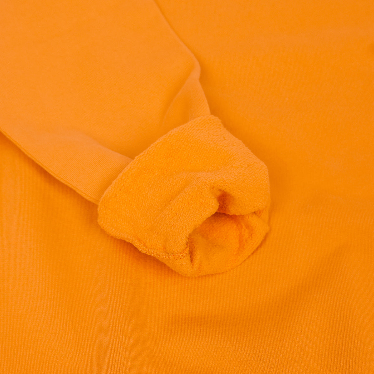 Colorful Standard Crew Sweat Organic Cotton Burned Orange cuff rolled