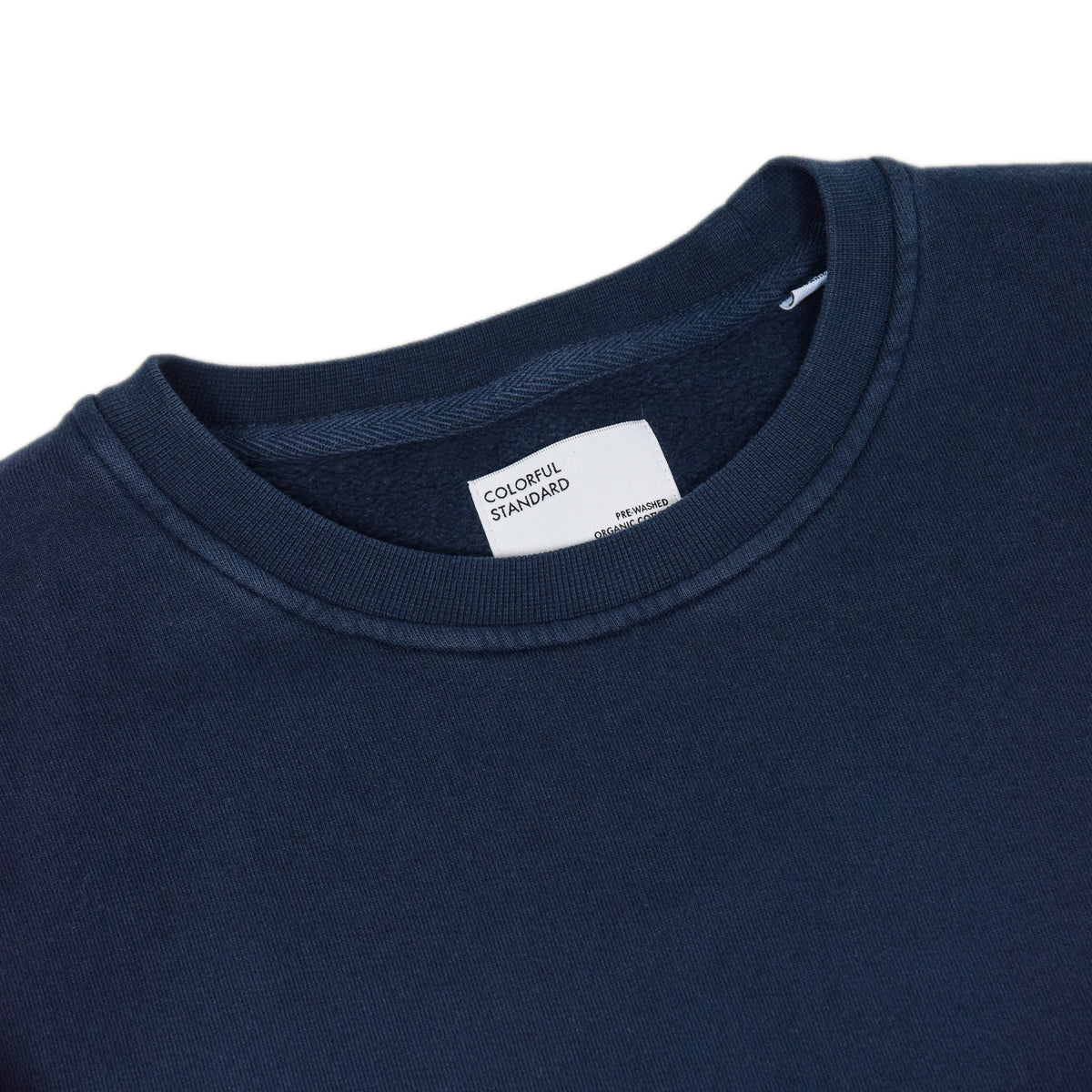 Colorful Standard Crew Sweat Organic Cotton Navy Blue label